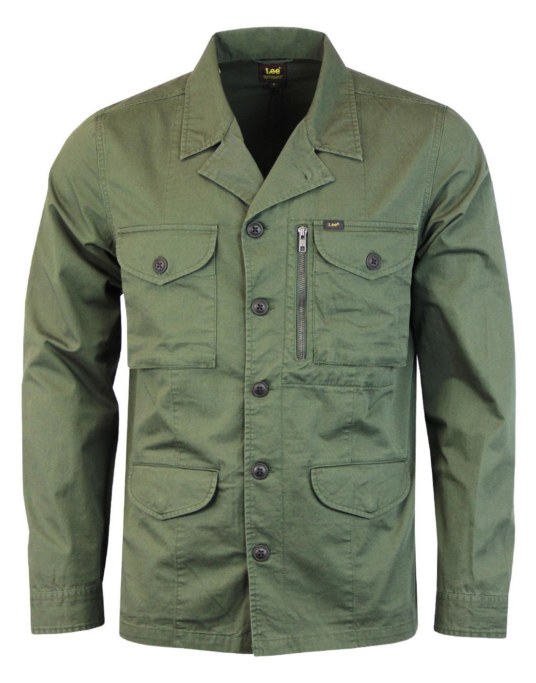 LEE Retro 70s Mod Twill Military Overshirt Jacket