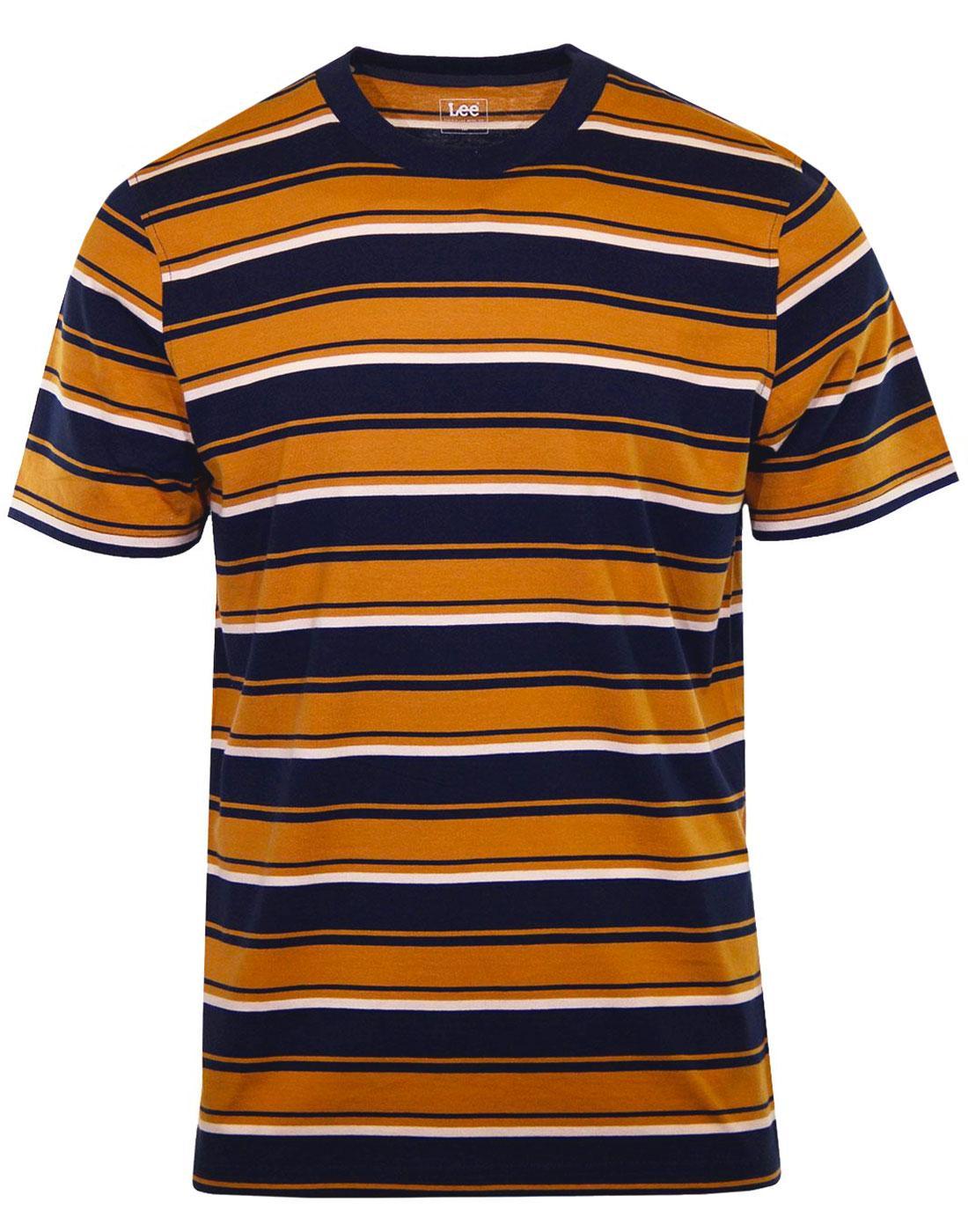 LEE Retro Indie Multi-Stripe Crew Neck T-Shirt