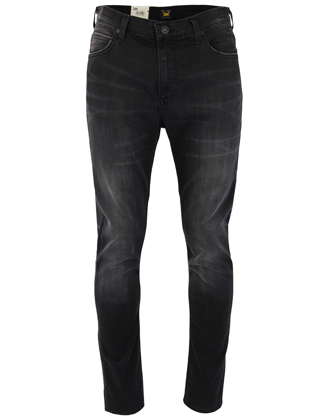 Rider LEE Men's Retro Slim Black Worn Denim Jeans