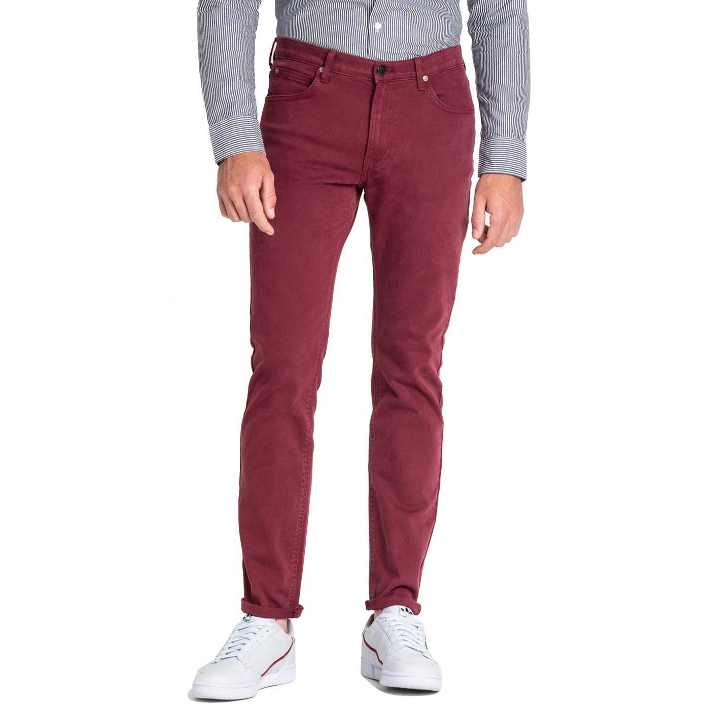 Rider LEE JEANS Slim Leg Twill Jeans - Tawny Port