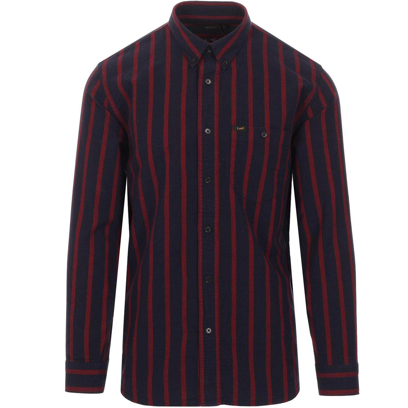LEE JEANS Men's Relaxed Fit Riveted Stripe Shirt