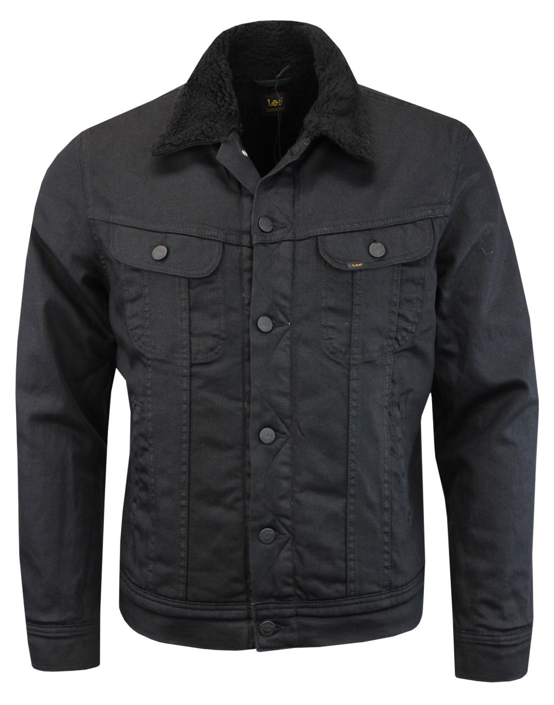 LEE Retro Coated Denim Sherpa Rider Jacket (BG)