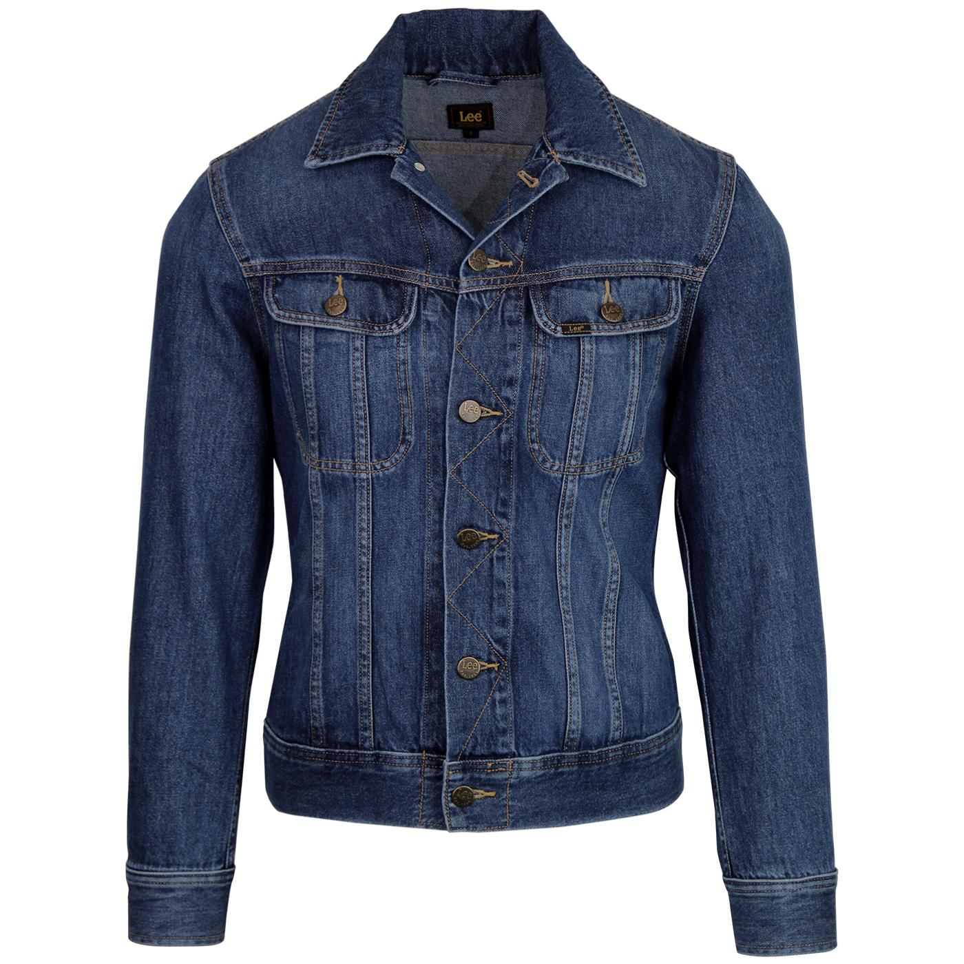 LEE Slim Rider Retro Mod Denim Jacket (Flick Dark)