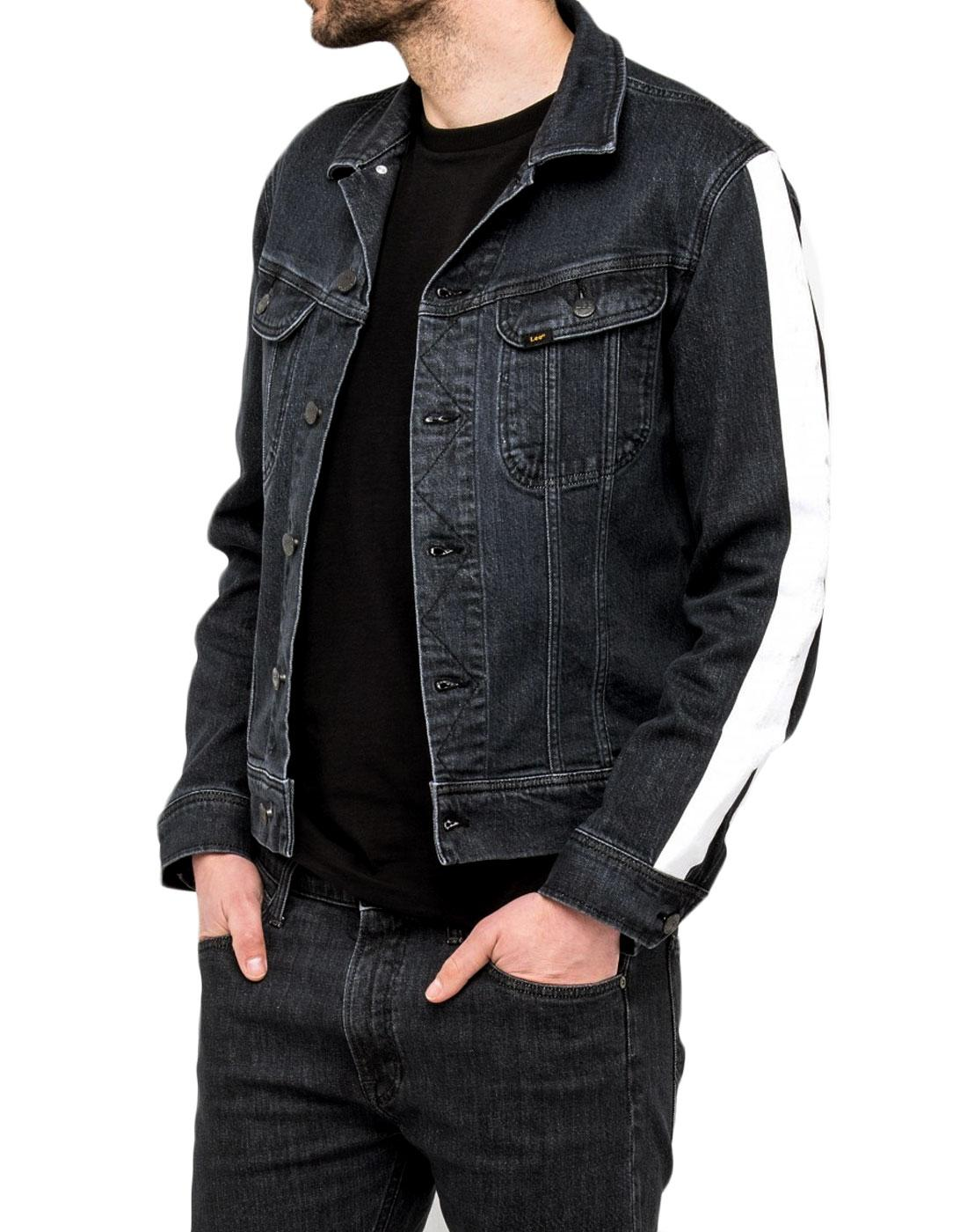 LEE Slim Rider Retro Baseline Stripe Denim Jacket