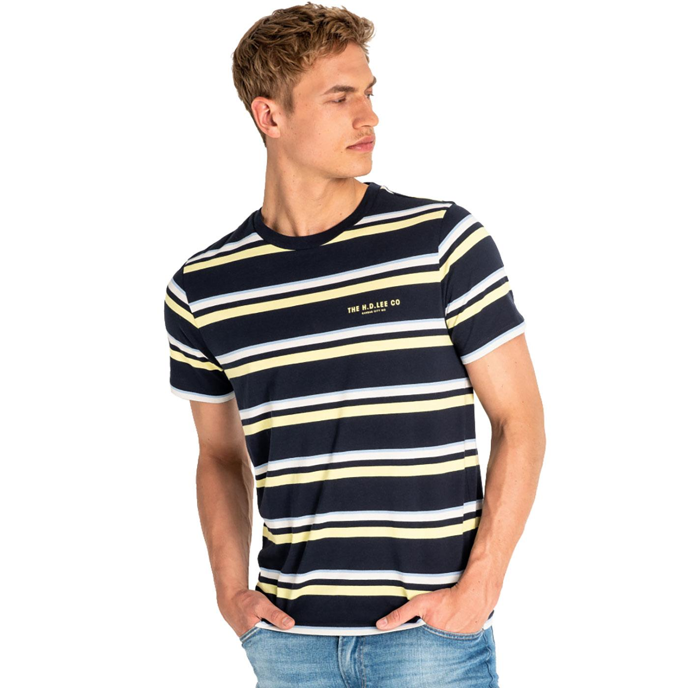 LEE JEANS Retro Multi Stripe T-Shirt SKY CAPTAIN