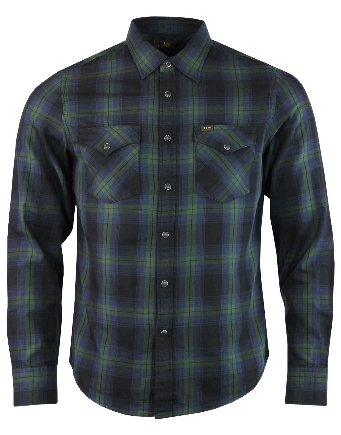 LEE Men's Retro Mod Tartan Check L/S Western Shirt