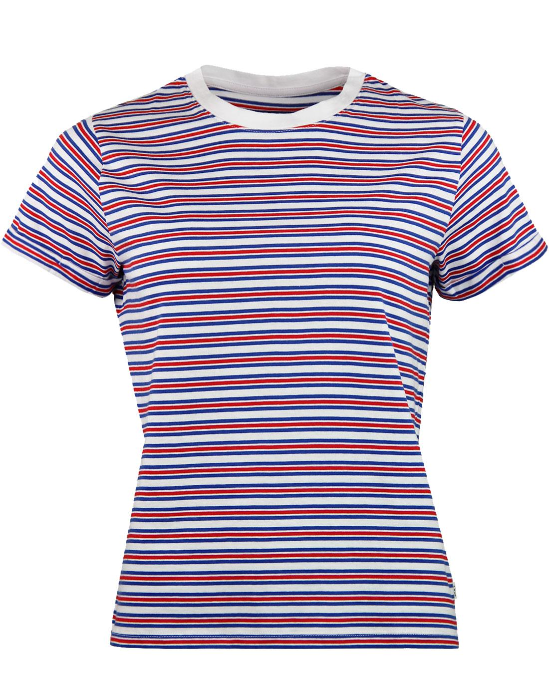LEE Women's Retro Short Sleeve Multi Stripe Tee I