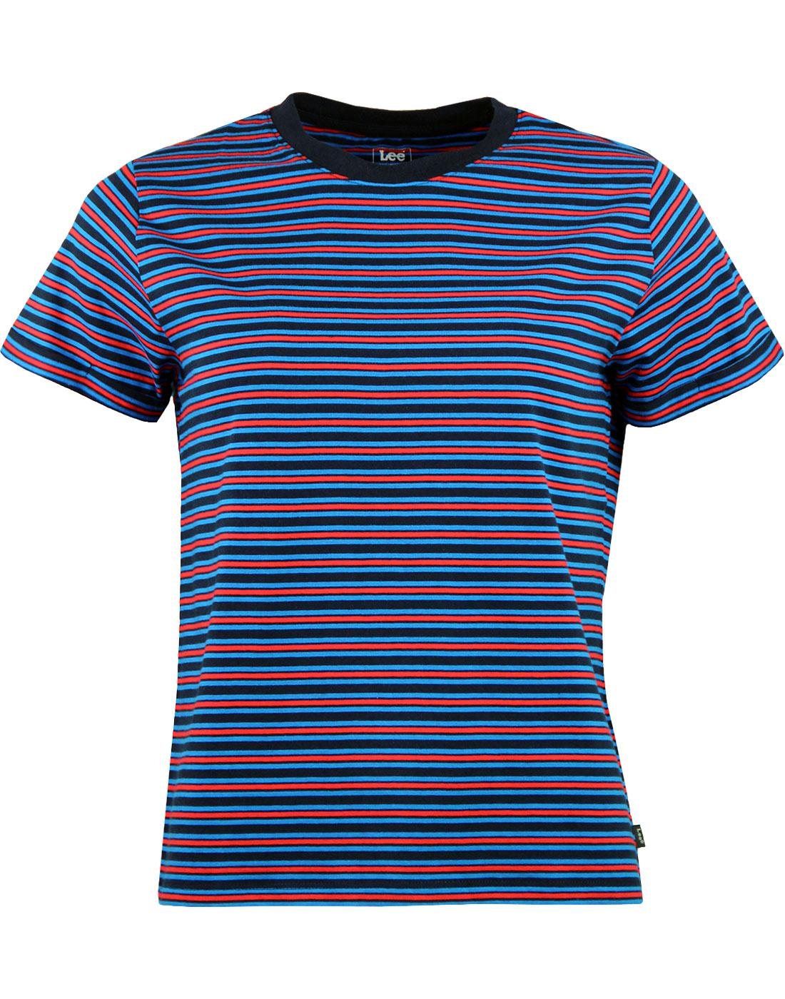 LEE Women's Retro Short Sleeve Multi Stripe Tee