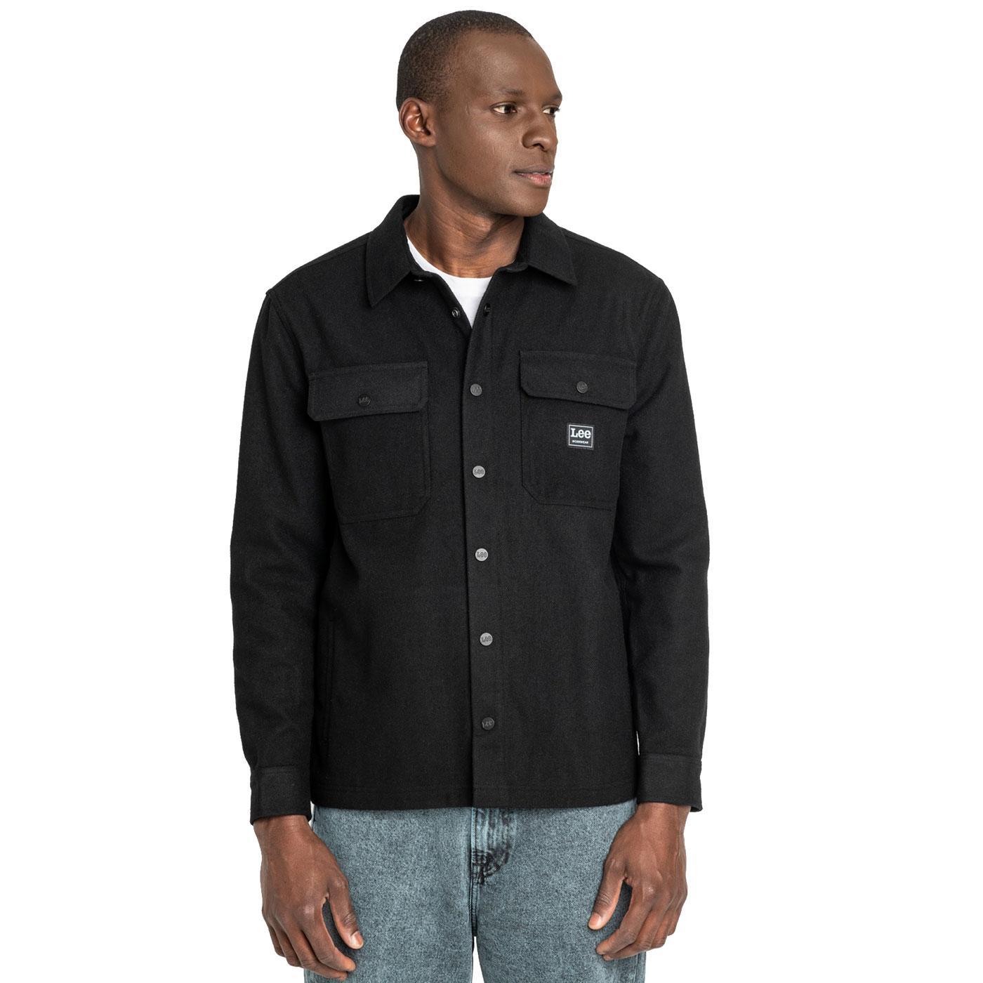 LEE JEANS Men's retro Wool Mix Workwear Overshirt