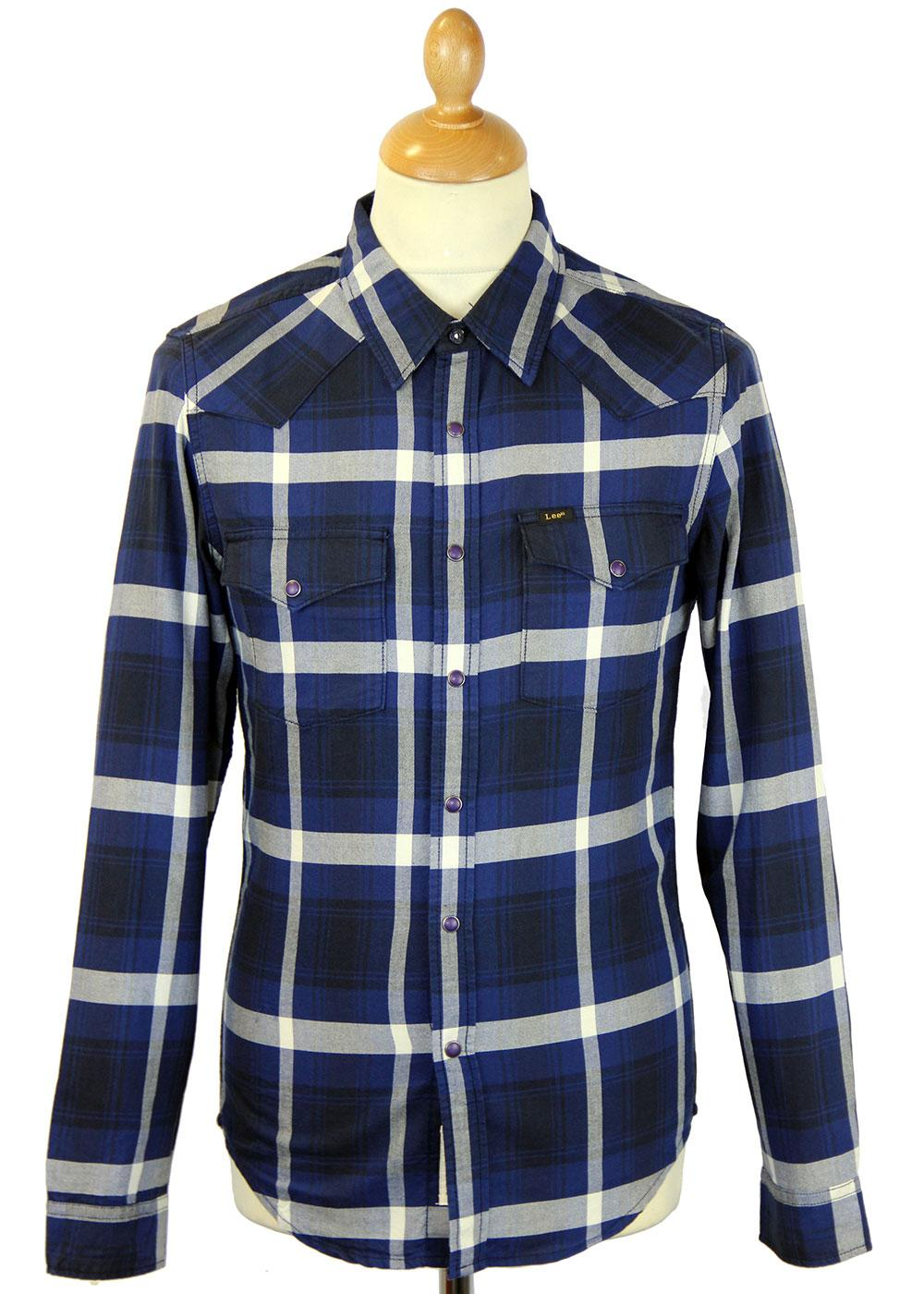 LEE Jeans Retro Indie Mod Check Western Shirt MB