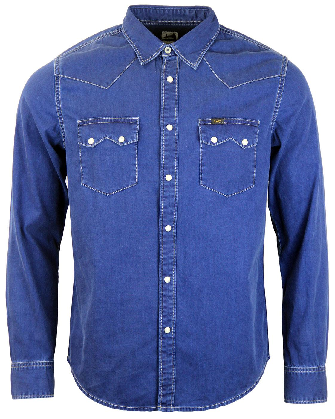 LEE Rider Retro Sawtooth Pocket Coated Rider Shirt