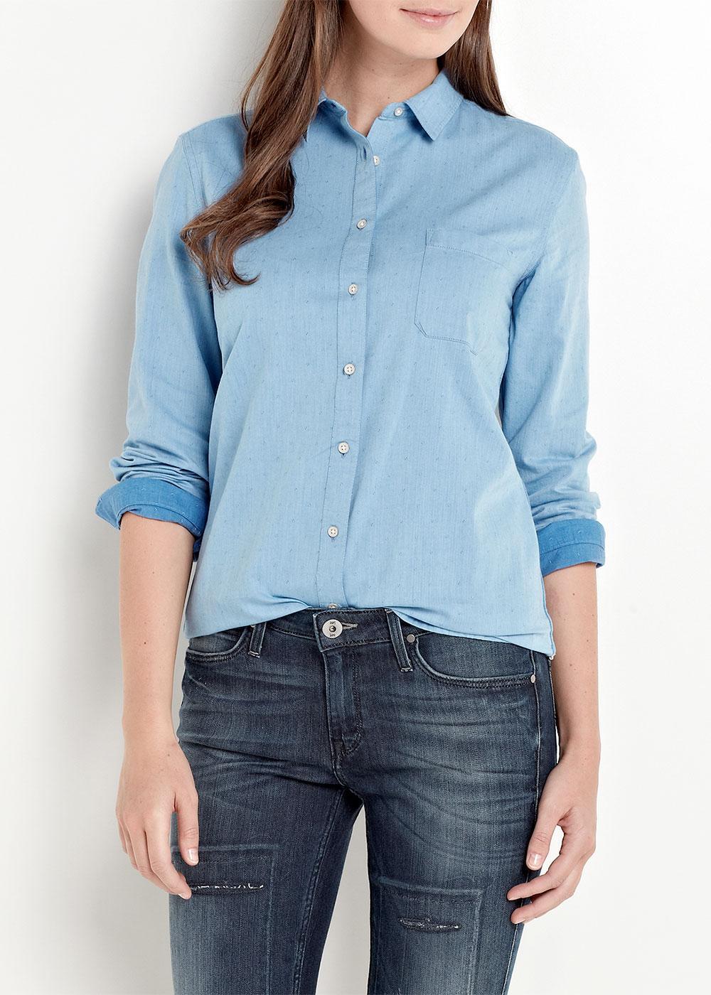 LEE JEANS Retro 60s Jaquard Dobby Shirt (Blue Ice)