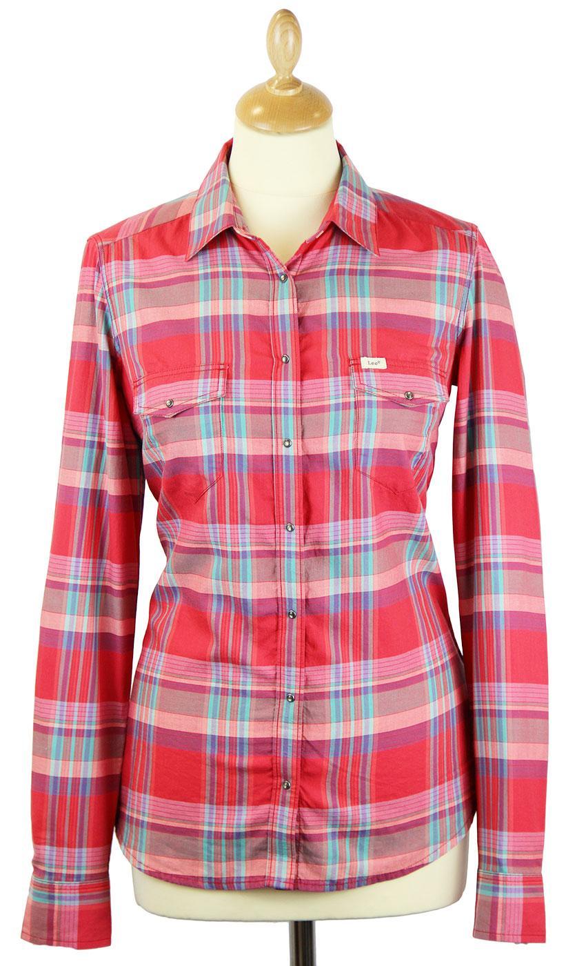 LEE Womens Slim Fit Retro Check Western Shirt (T)