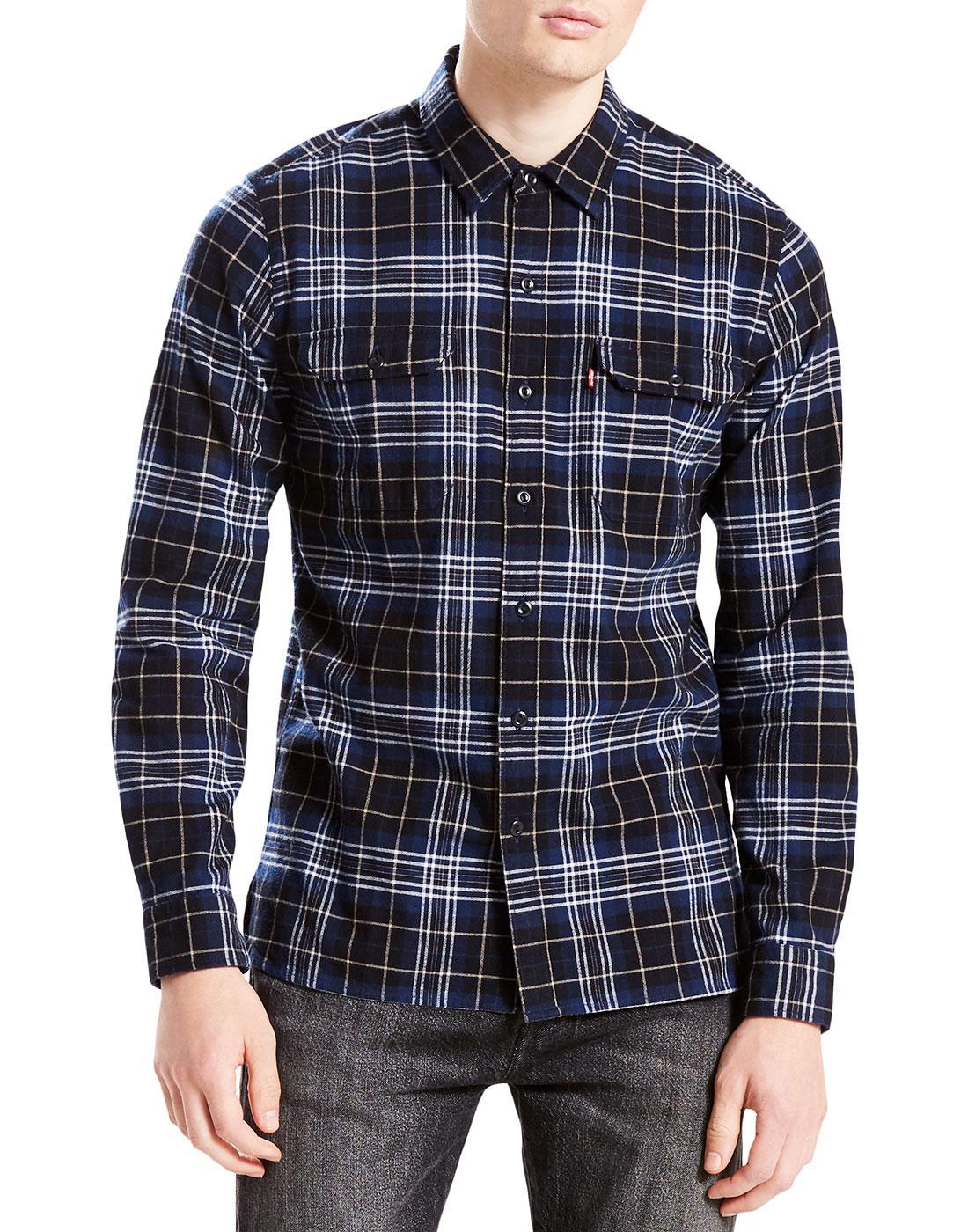 LEVI'S Jackson Retro Plaid Check Worker Shirt (DB)