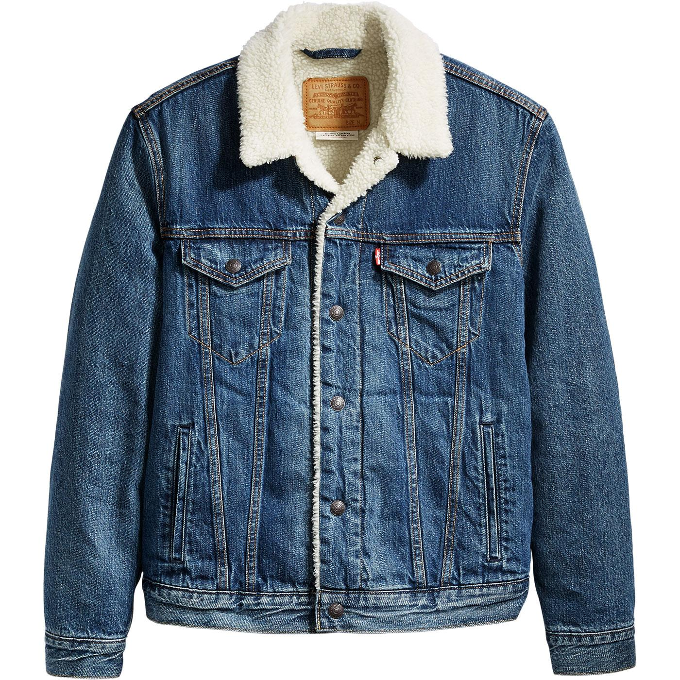 LEVI'S Type 3 Sherpa Denim Trucker Jacket (Mayze)