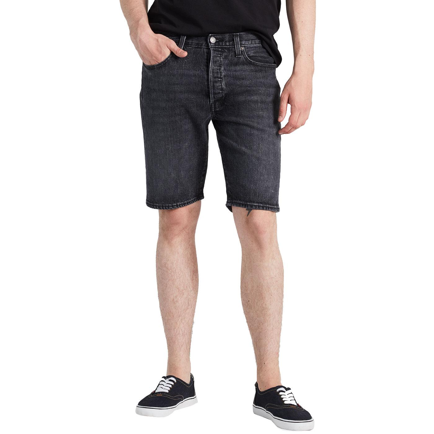LEVI'S 501 Men's Retro Denim Hemmed Shorts (Black)