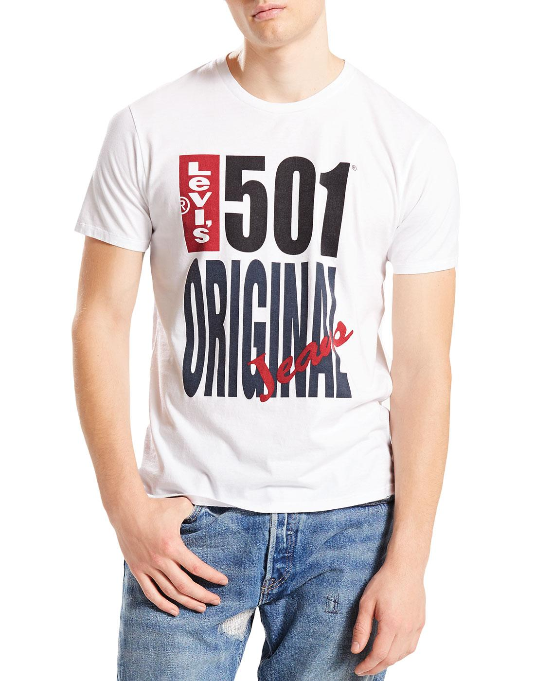 LEVI'S Retro 1980s 501 Graphic Print Crew T-Shirt