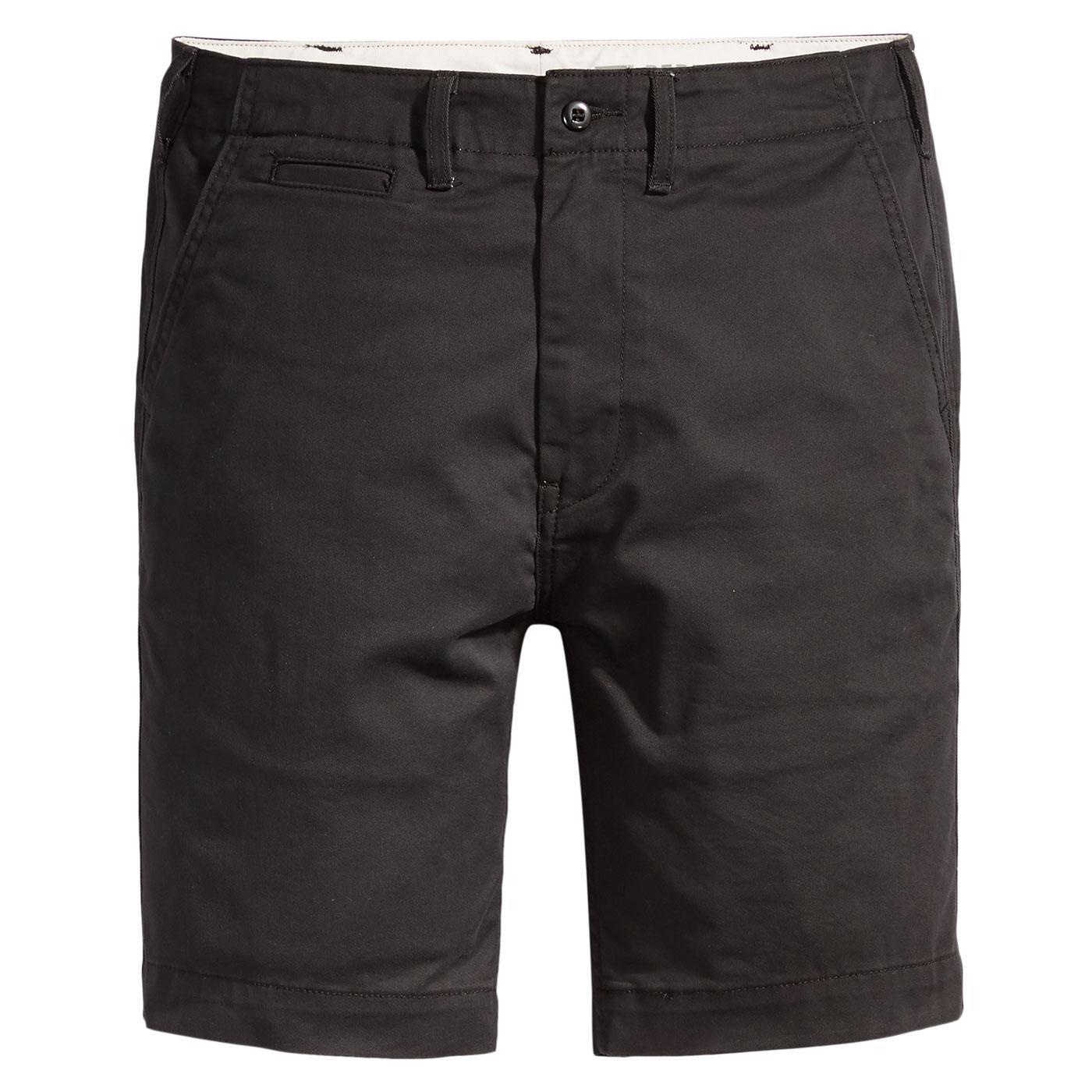 LEVI'S 502 Regular Fit True Chino Shorts (Caviar)
