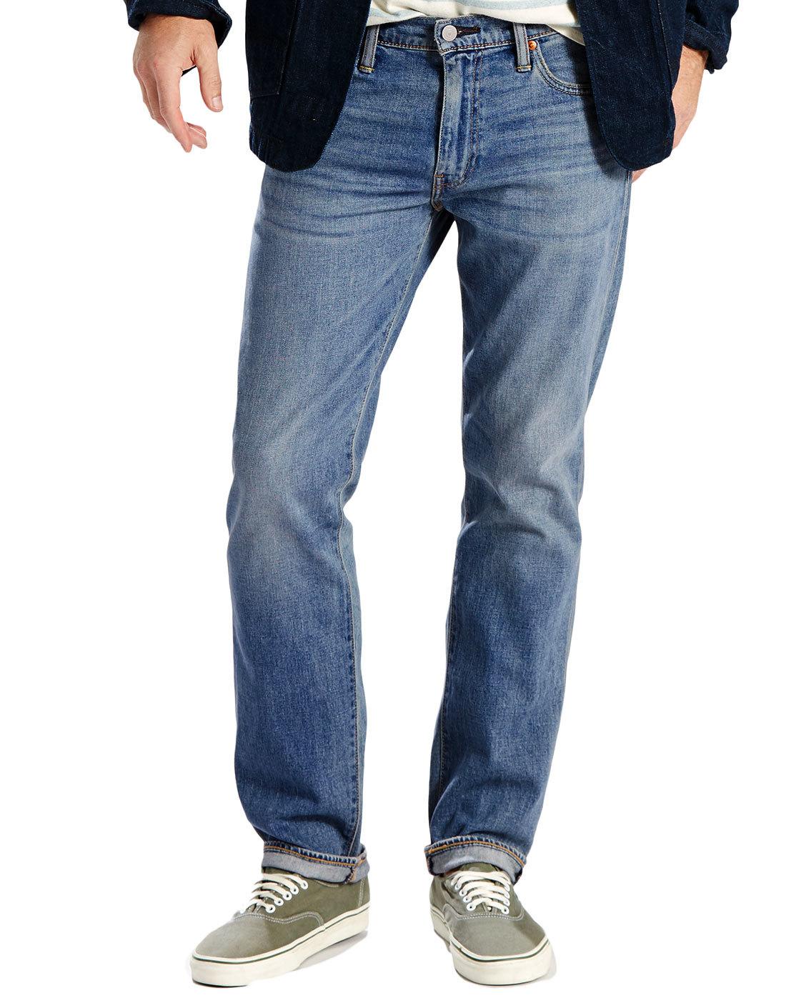 levi 39 s 504 retro mod regular straight denim jeans in. Black Bedroom Furniture Sets. Home Design Ideas