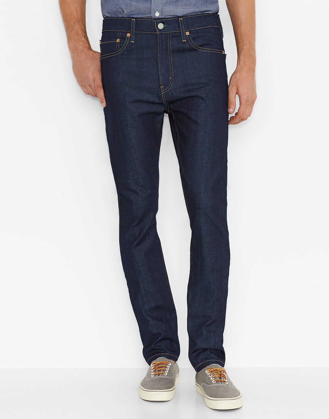 LEVI'S® 510 Mod Skinny Fit Denim Jeans BROKEN RAW