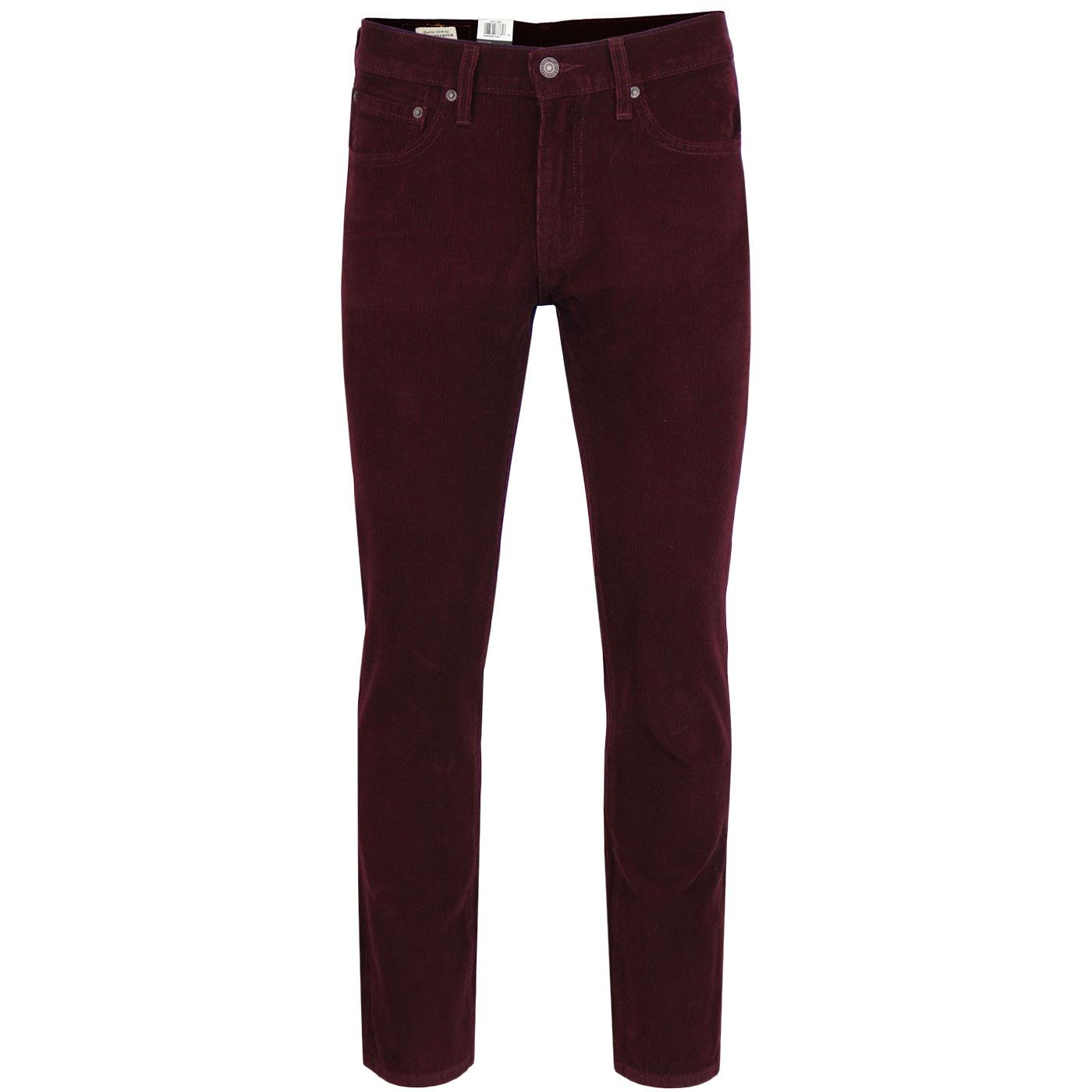 LEVI'S 511 Retro Mod Slim Cord Jeans (Mulled Wine)