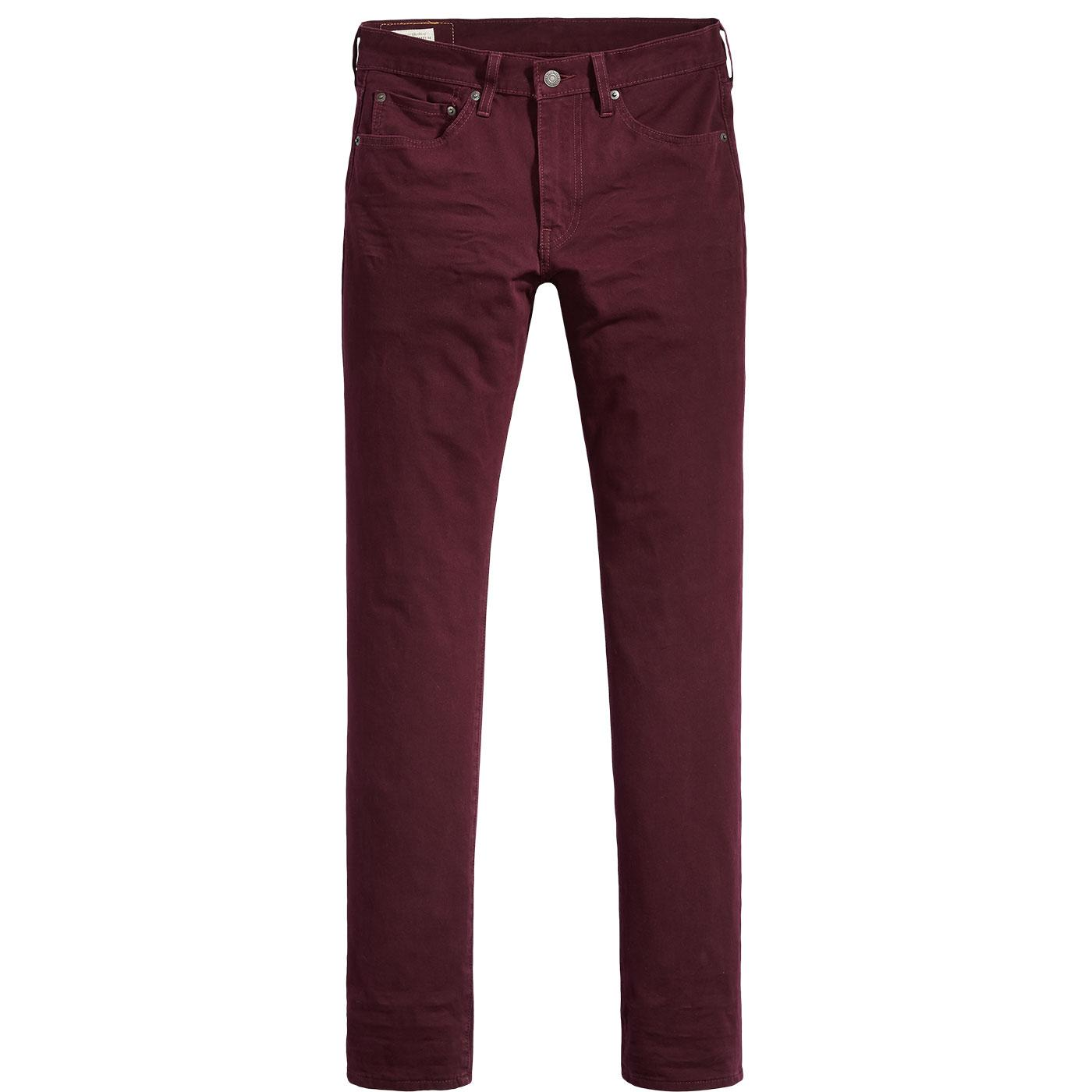 LEVI'S 511 Retro Mod Slim Fit Chinos MULLED WINE