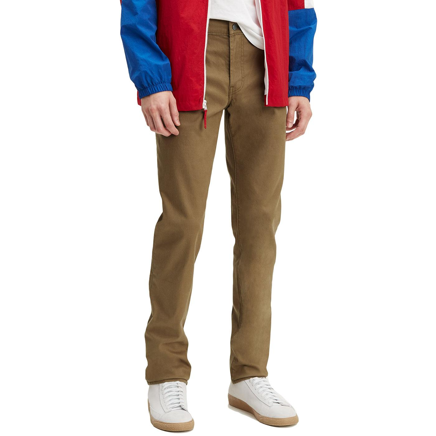 0a913386 LEVI'S 511 Retro Mod Bedford Cord Chino Trousers in Cougar