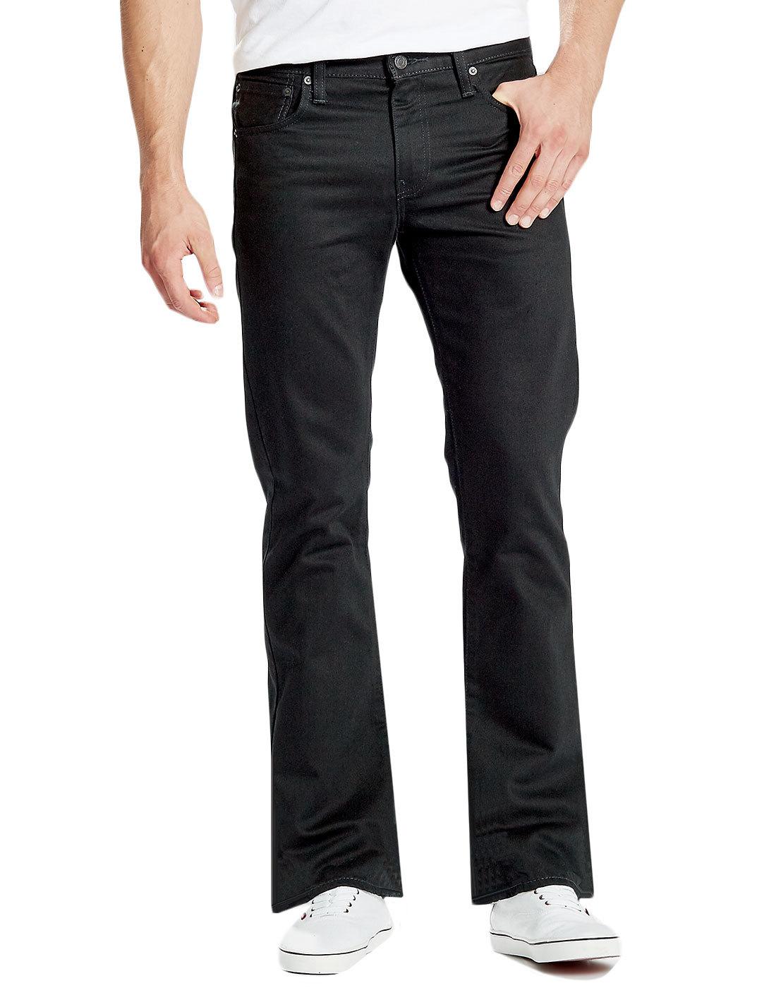 fe361268da LEVI S® 527 Retro Mens Slim Boot Cut Denim Jeans in Black Rinse