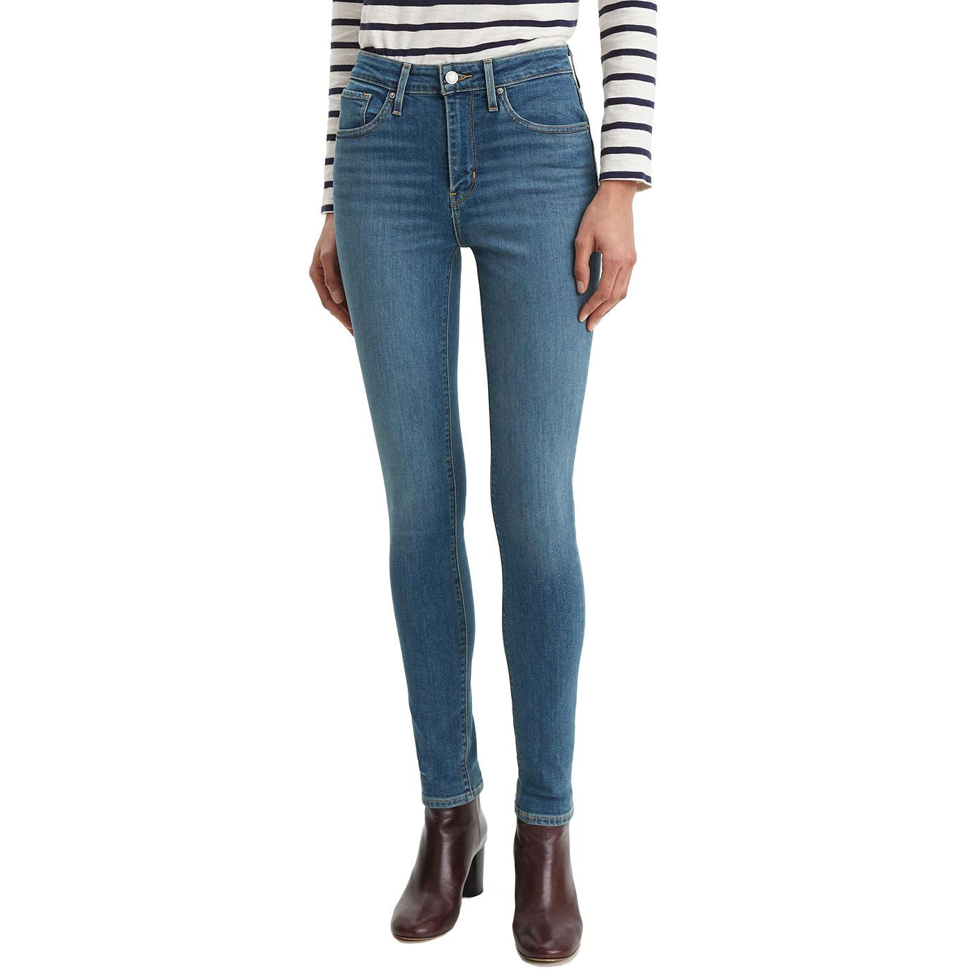 LEVI'S 721 High Rise Skinny Jeans LOS ANGELES SUN