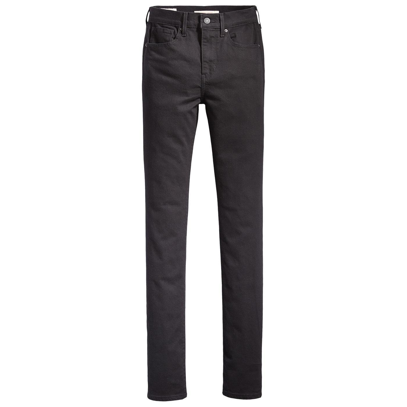 LEVI'S Women's High Rise Straight Jeans - Black
