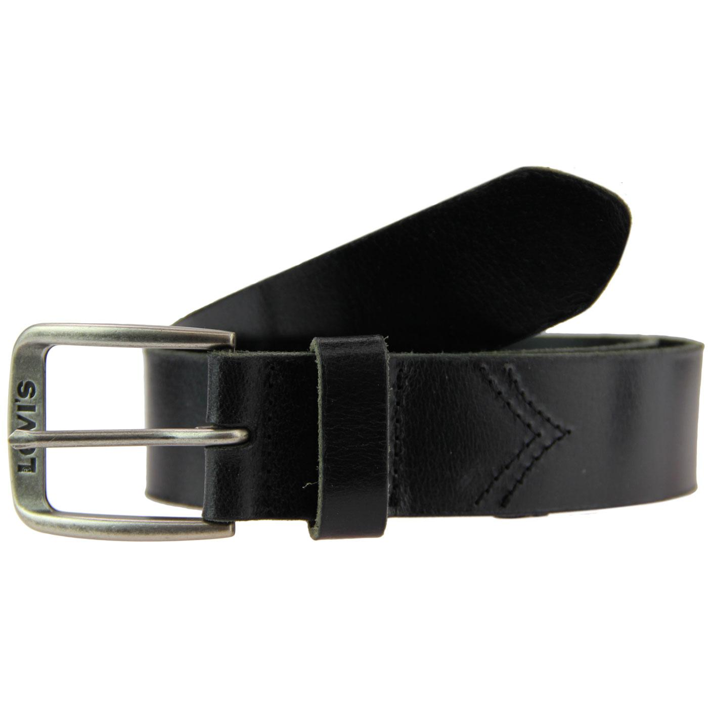 Alturas LEVI'S Retro Chevron Stitch Belt (Black)