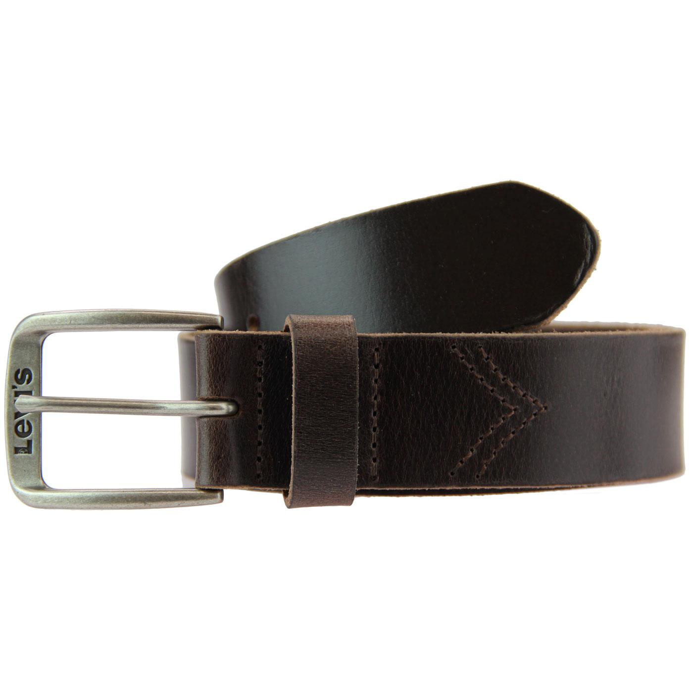 Alturas LEVI'S Retro Chevron Stitch Belt (Brown)