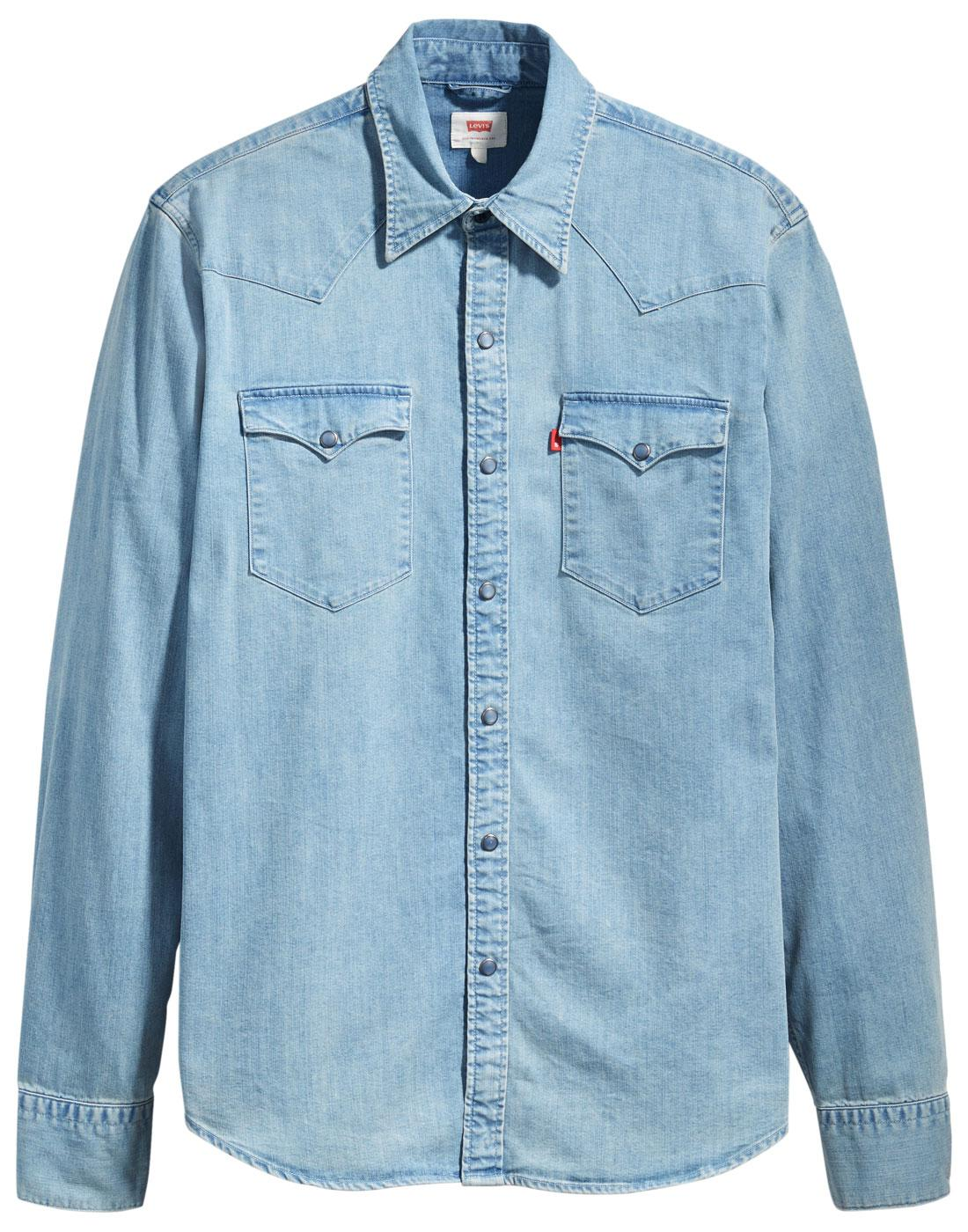 2fed1869871 LEVI S Barstow Retro Brooklyn Stretch Denim Western Shirt