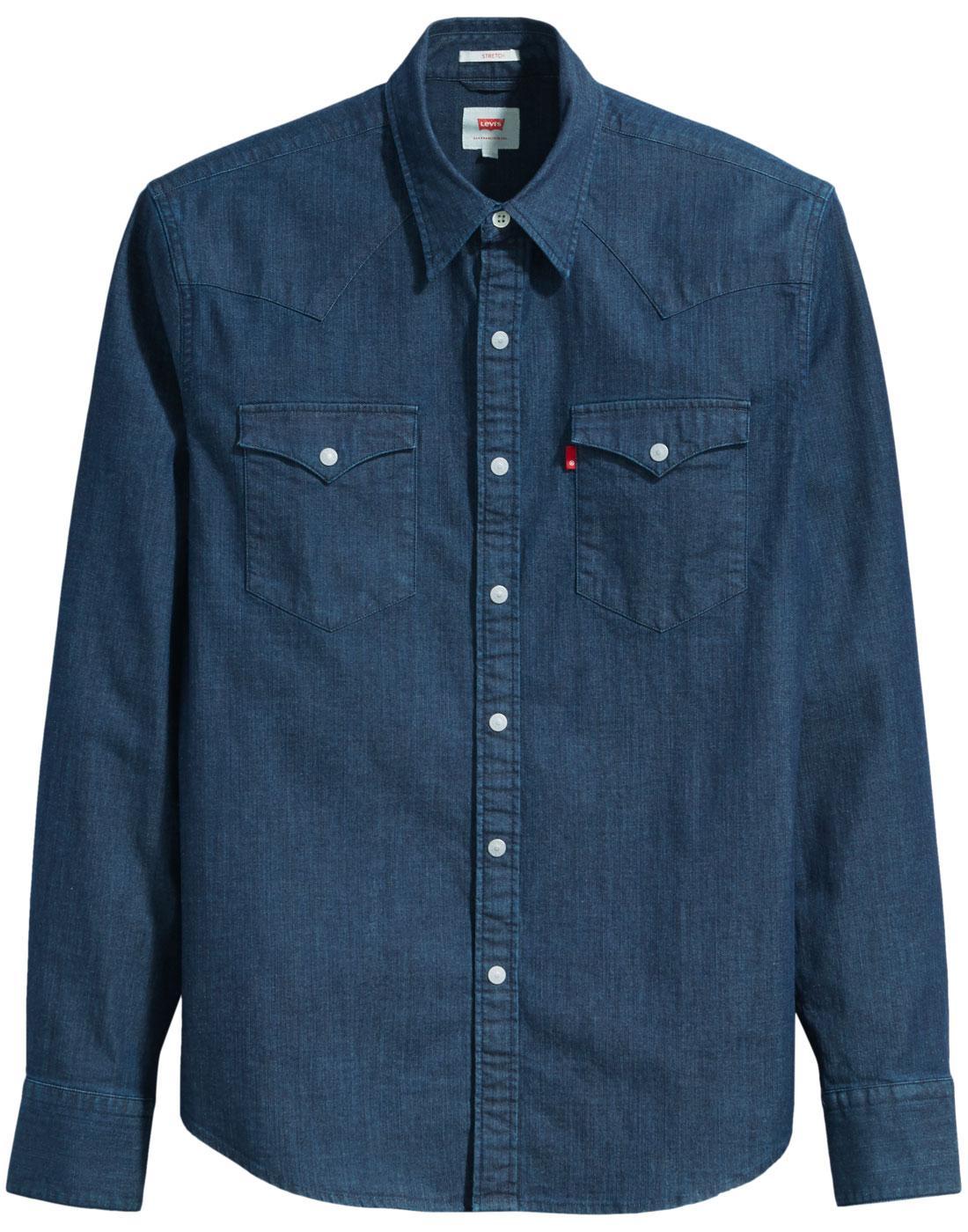 LEVI'S Barstow Retro 70s Denim Western Shirt (MIS)