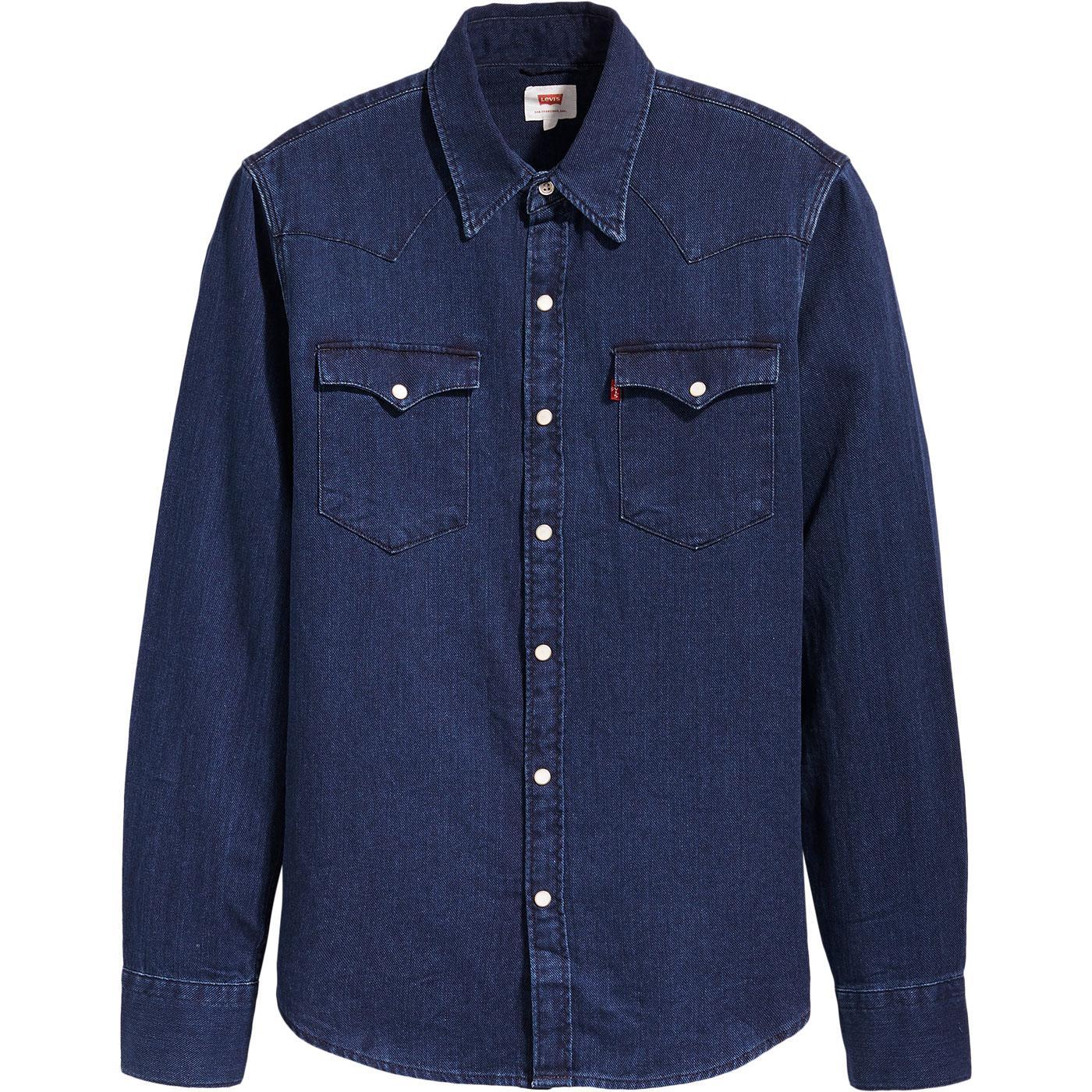 Barstow LEVI'S Retro Indigo Flannel Western Shirt