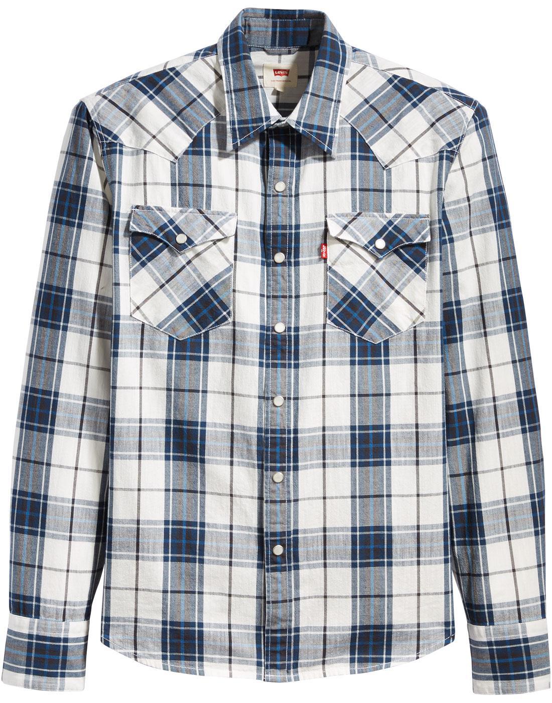 LEVI'S Barstow Retro 70s Check Western Shirt (WDB)