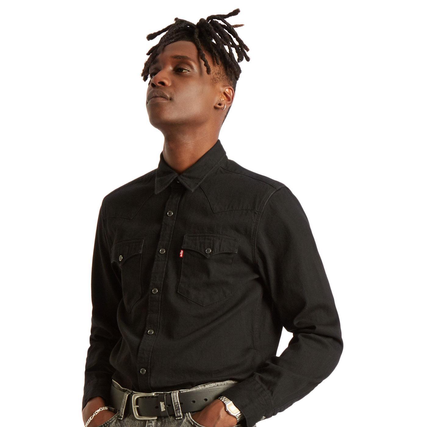 Barstow LEVI'S Retro Marble Black Western Shirt