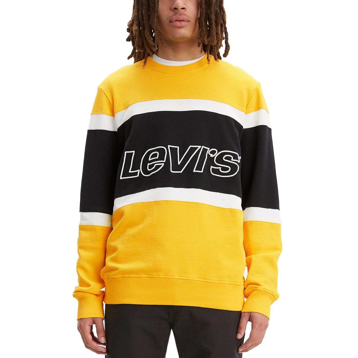LEVI'S Retro Indie Colour Block Sweatshirt Y/B