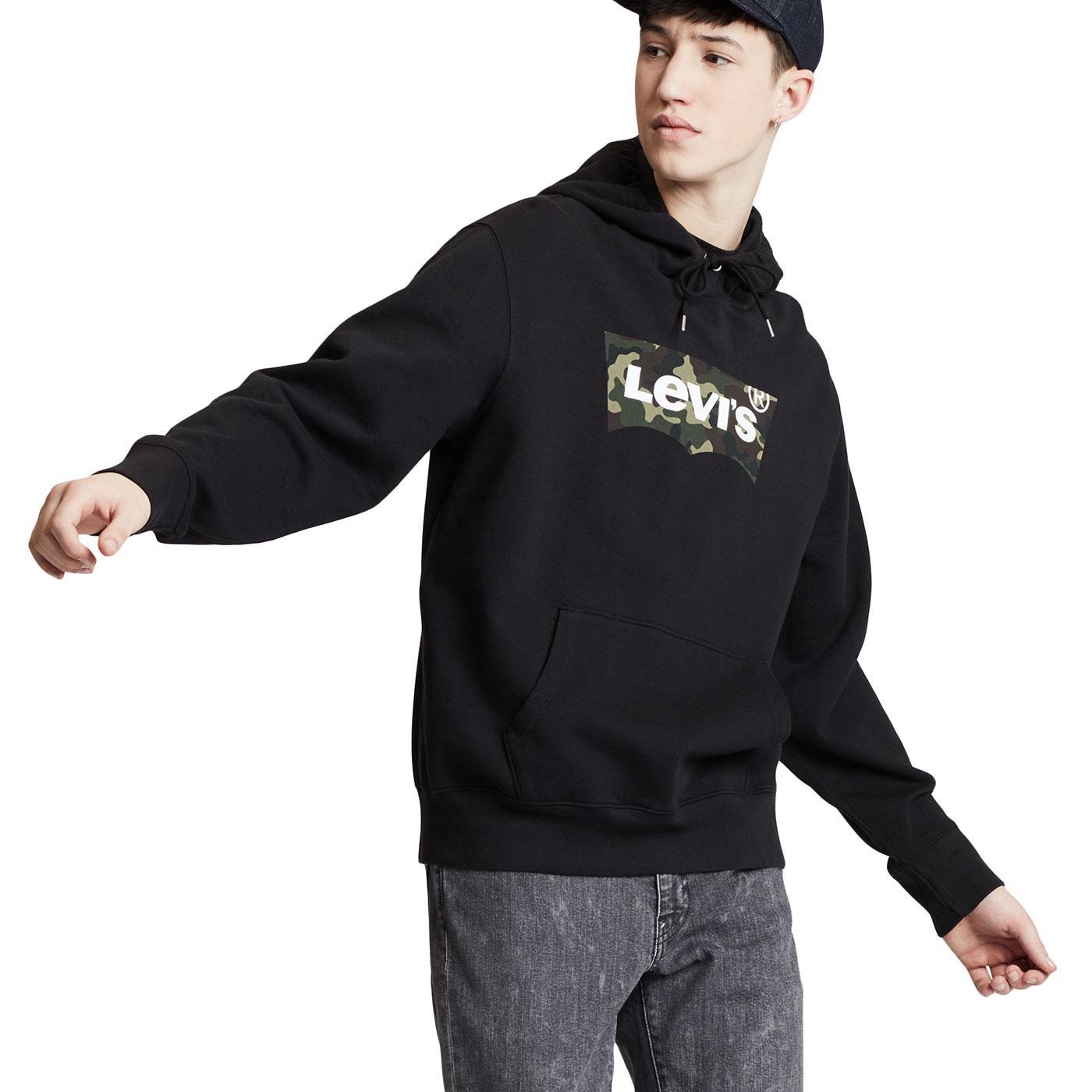 LEVI'S Housemark Camo Batwing Hooded Sweatshirt