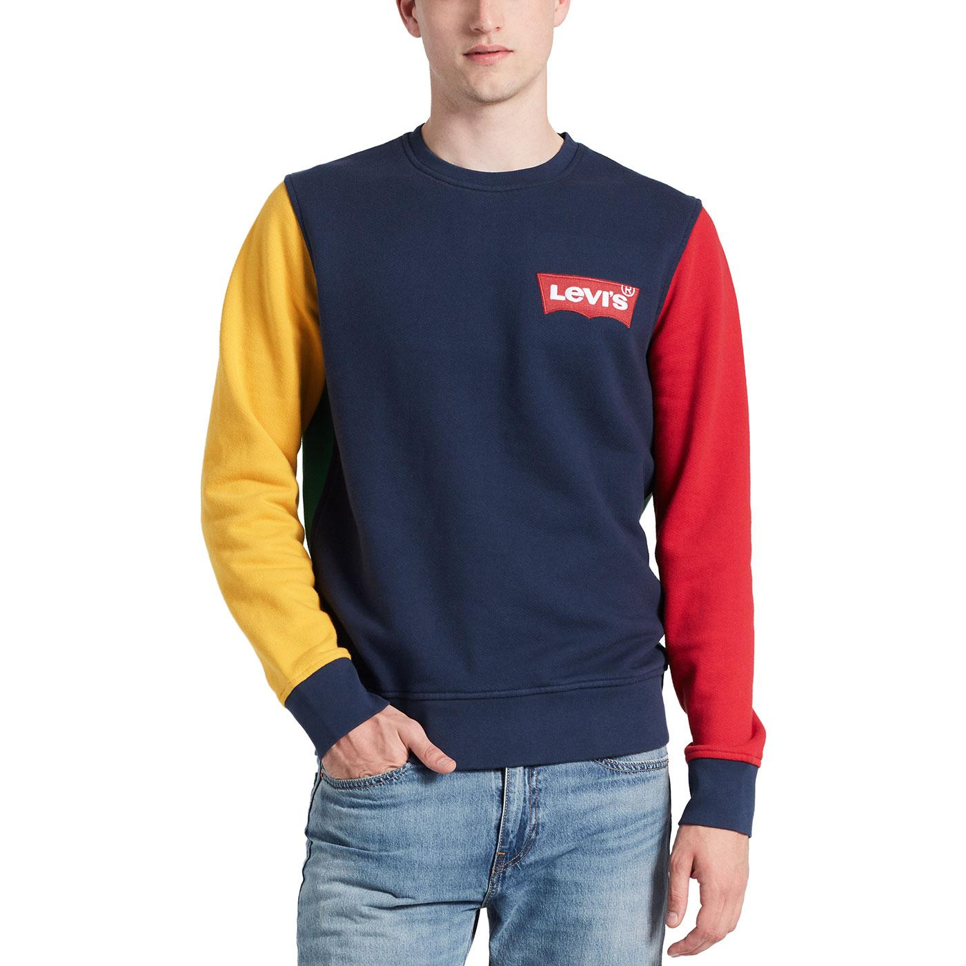 LEVI'S Men's Retro HM Crew Neck Sweatshirt (Navy)