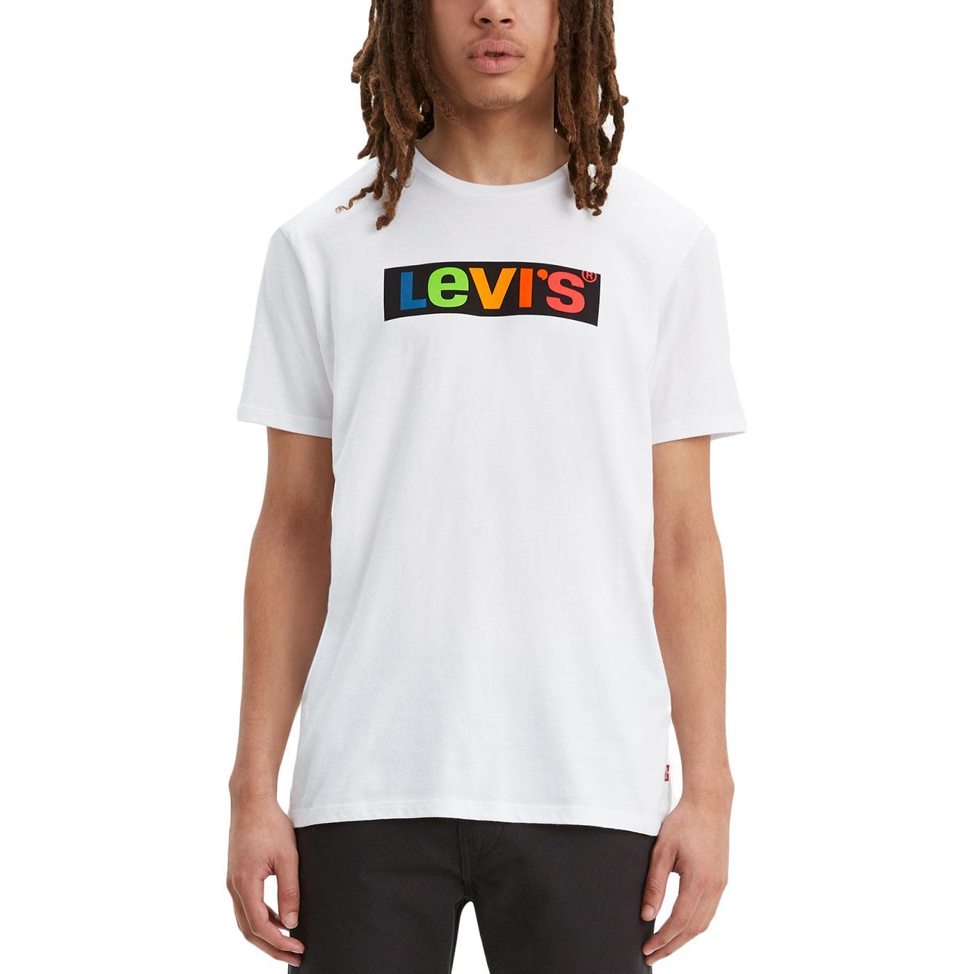 LEVI'S Men's Retro Colour Block Box Logo Tee (W)
