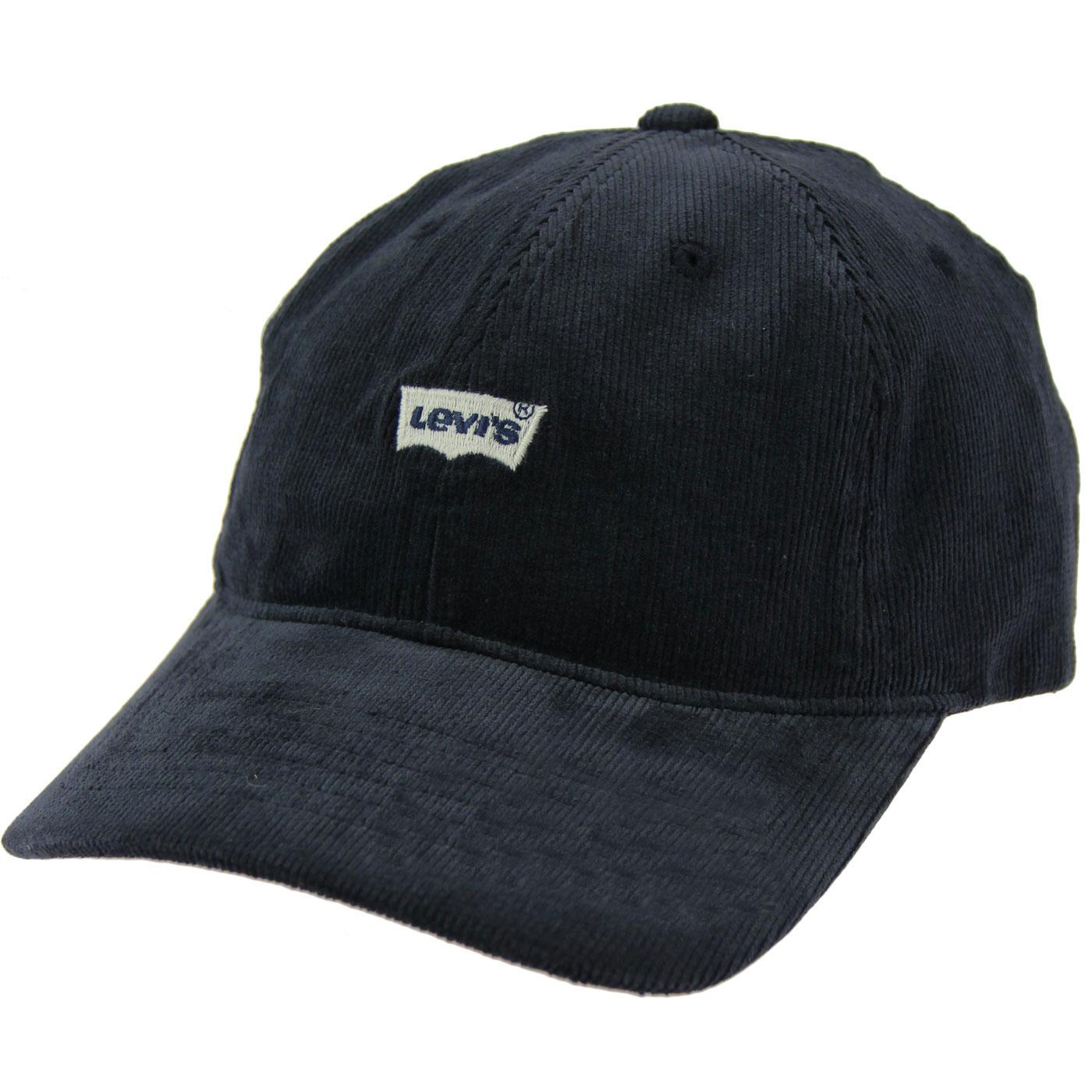 LEVI'S Men's Retro Cord Batwing Trucker Cap (Navy)