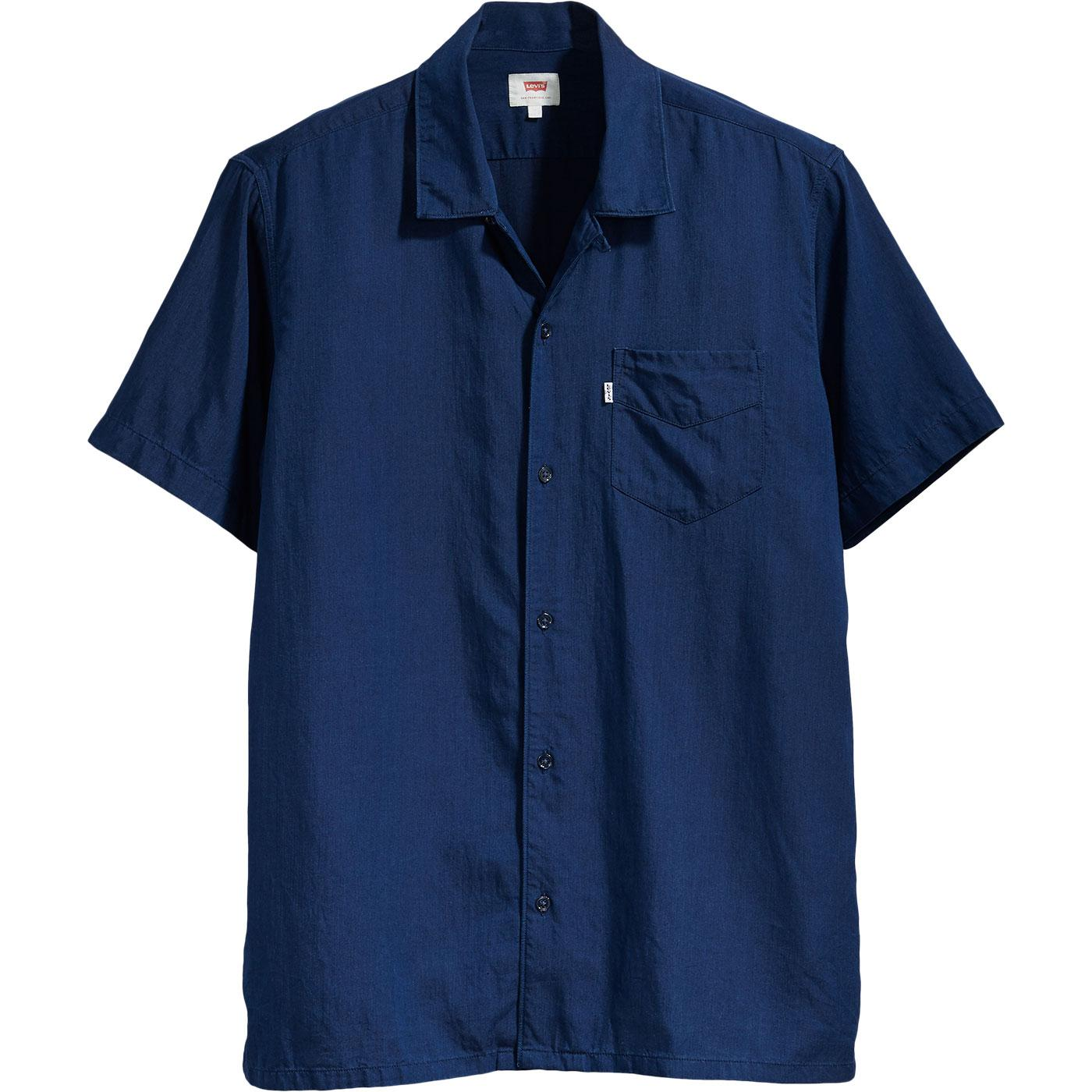 LEVI'S Cubano Retro 70s Tencel Resort Shirt (Navy)