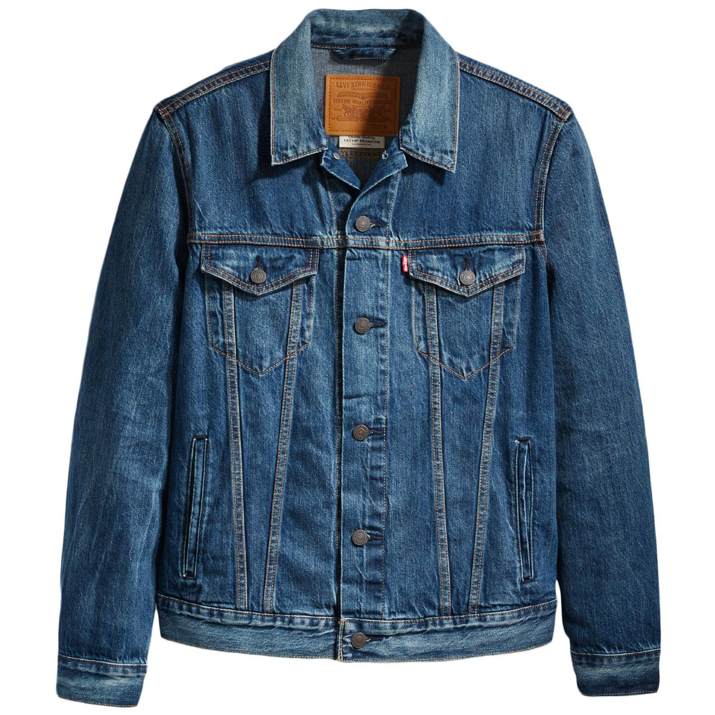 0e73c872 LEVI'S Men's Retro Mod Denim Trucker Jacket in Mayze Blue