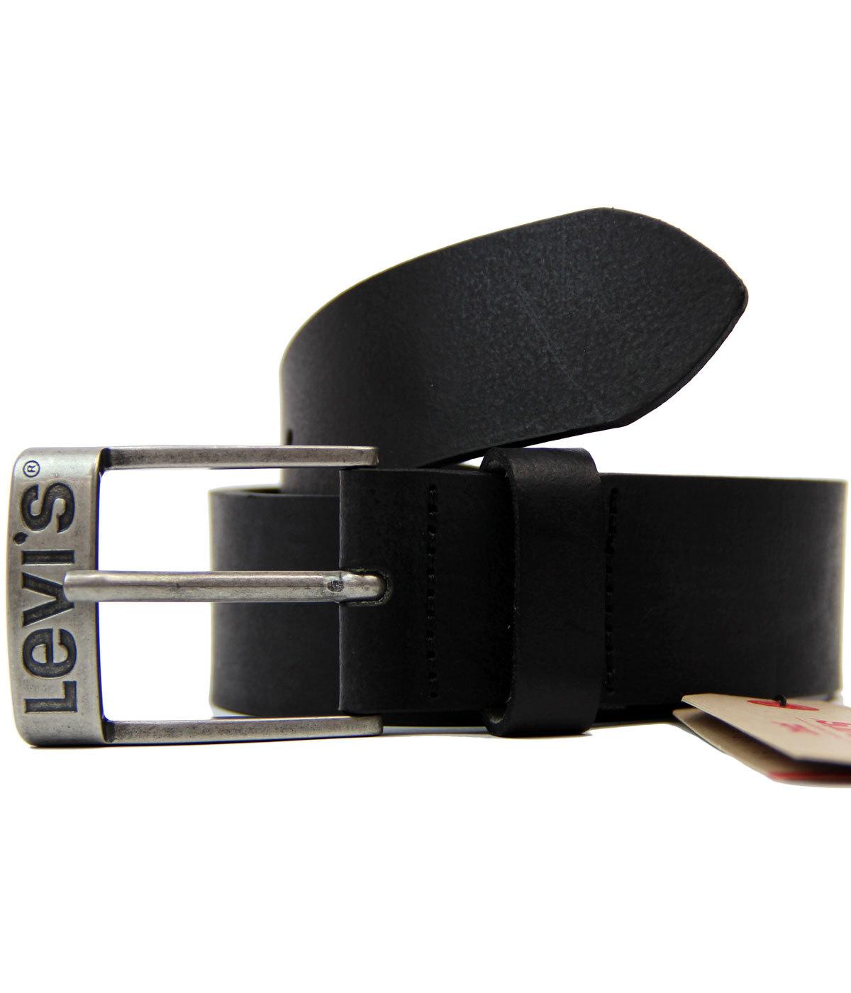 Duncan LEVI'S® Retro Leather Belt w/ Logo Buckle