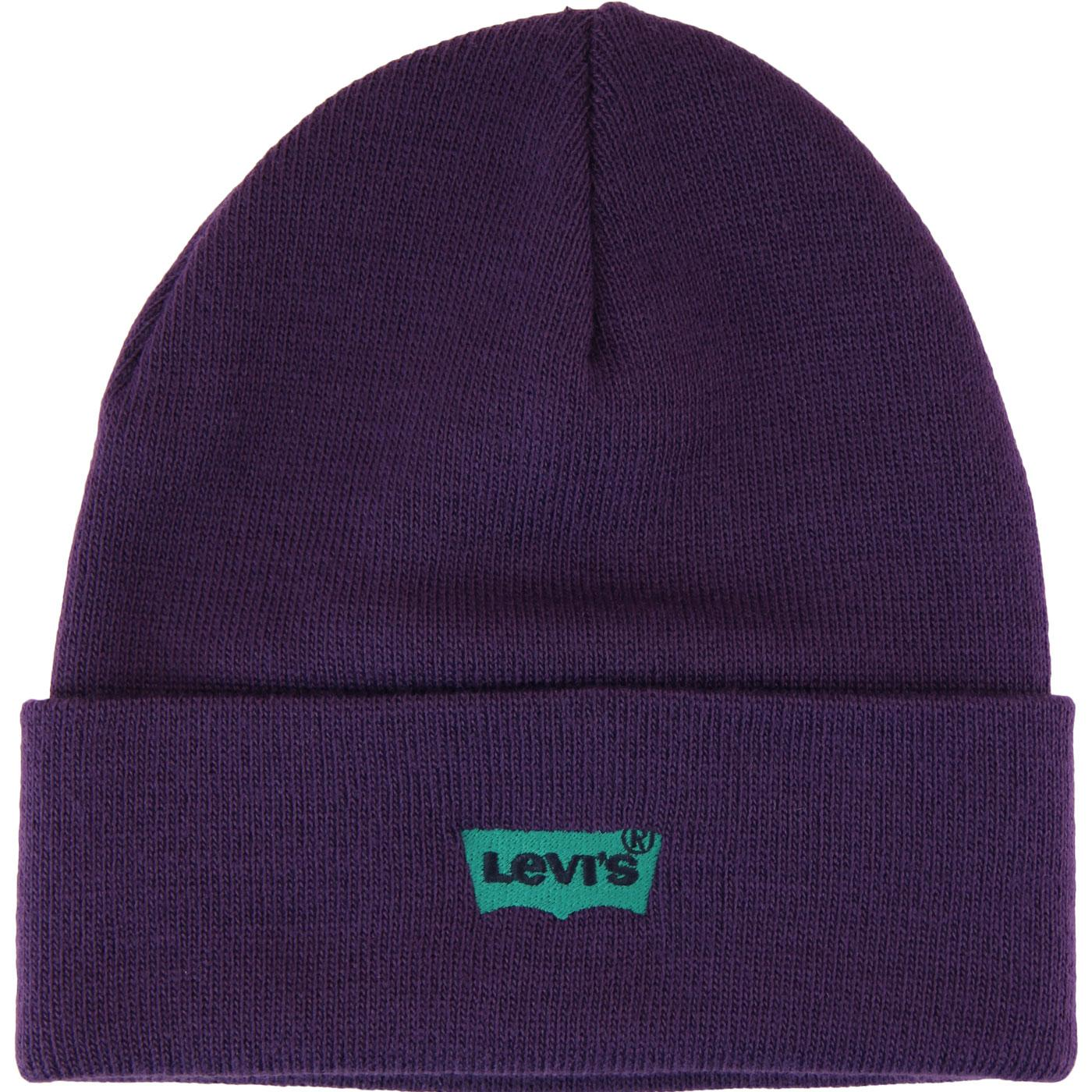 LEVI'S Retro Batwing Embroidered Knit Beanie Hat P