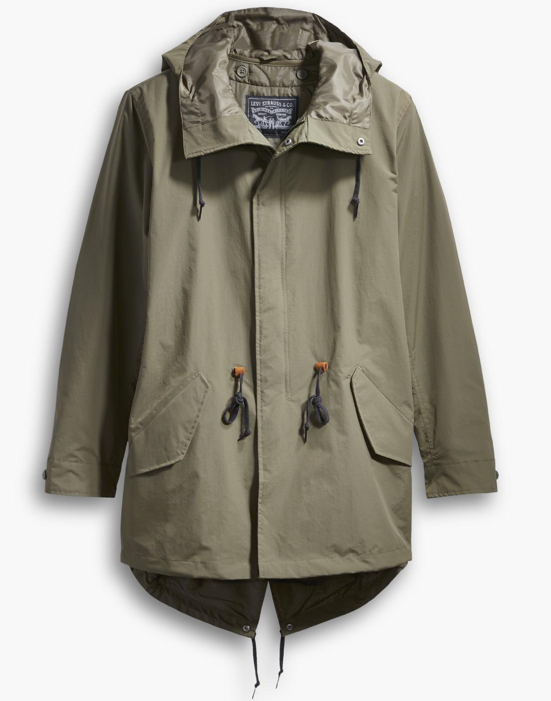 LEVI'S Mens Retro Mod 3 in 1 Fishtail Parka Jacket