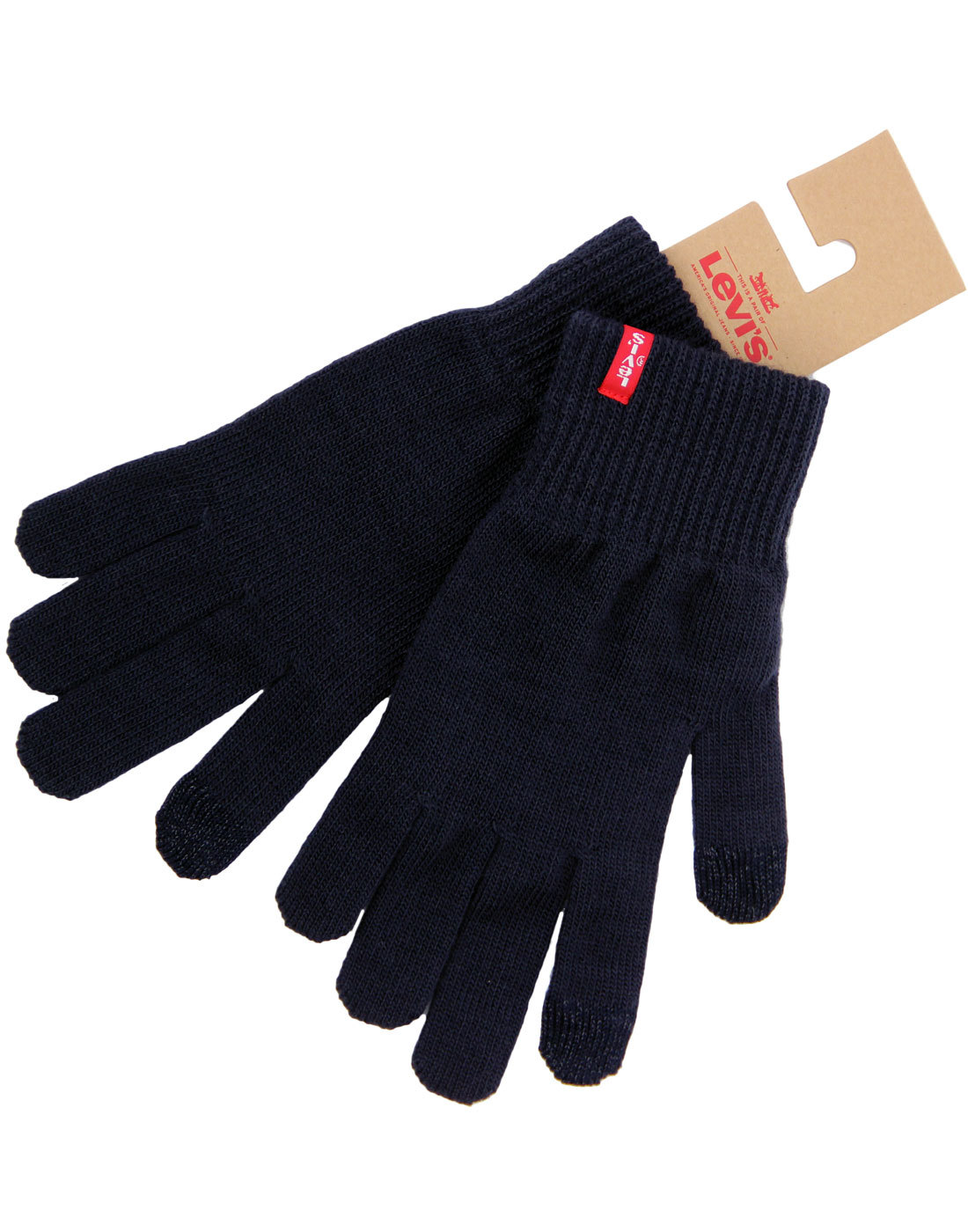 LEVI'S® Classic Retro 70s Ribbed Cuff Gloves NAVY