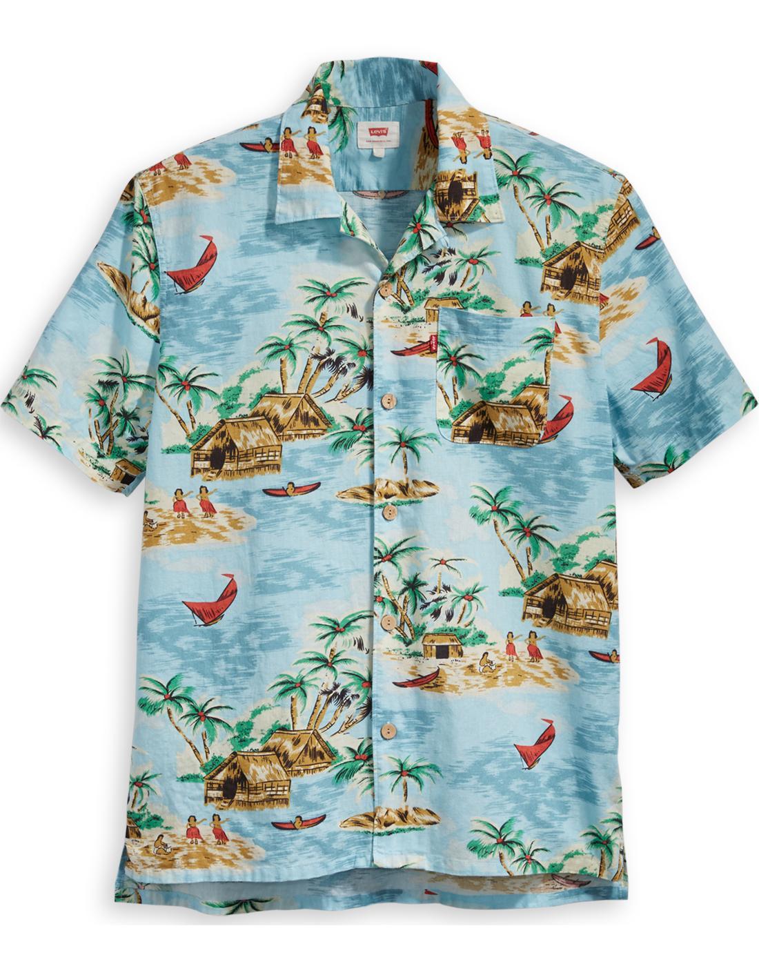LEVI'S Mens Retro 1950s Resort Hawaiian Shirt