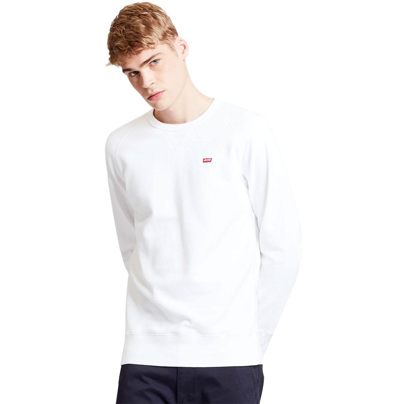LEVI'S Men's HM Icon Crew Neck Sweatshirt (White)